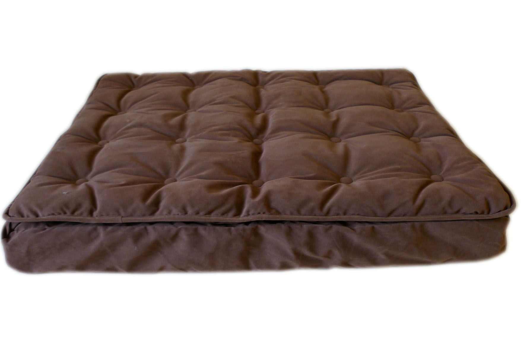 Luxury Pillow Top Mattress Pet Bed in Chocolate Size: Large