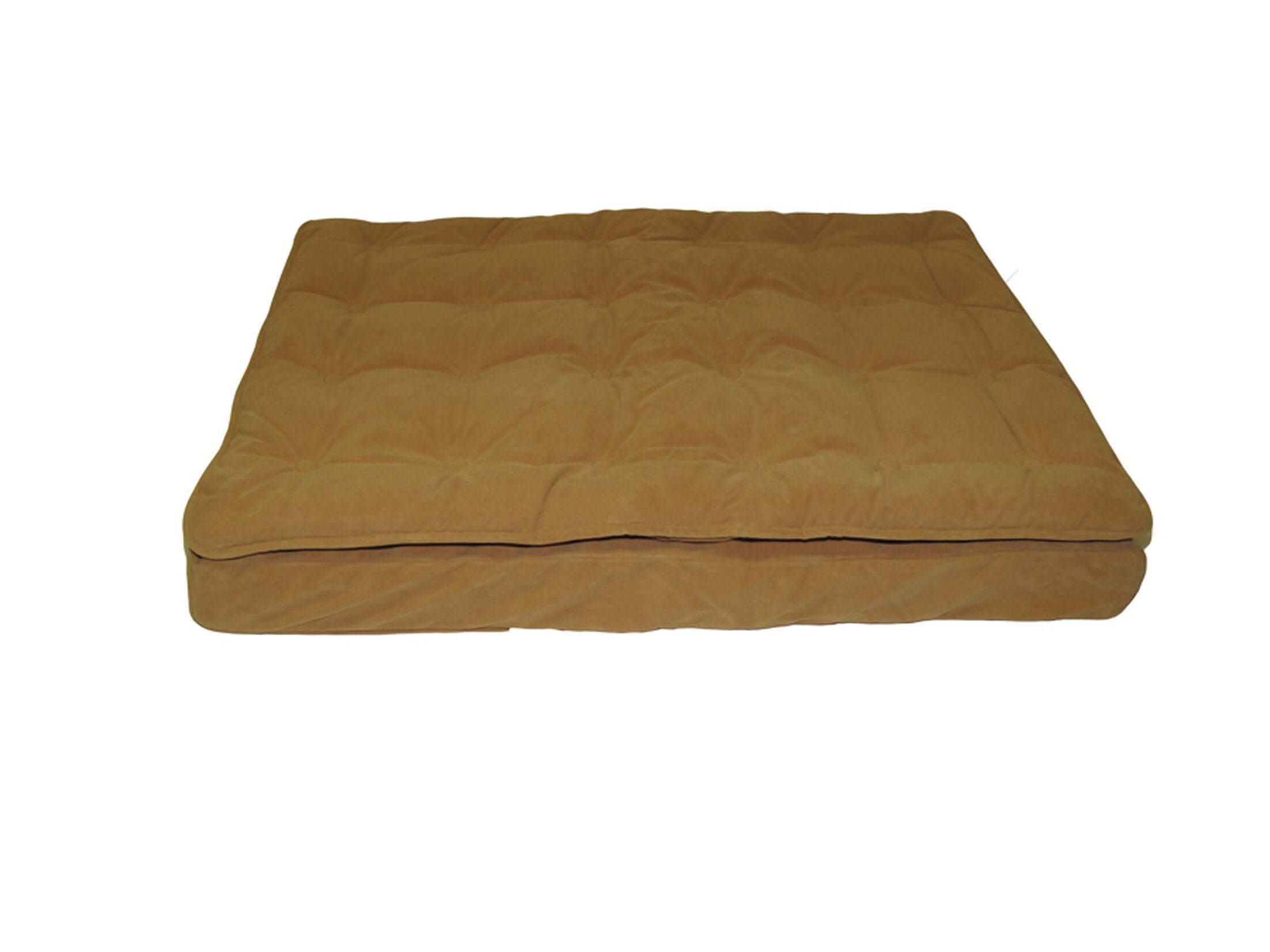 Luxury Pillow Top Mattress Pet Bed in Caramel Size: Medium