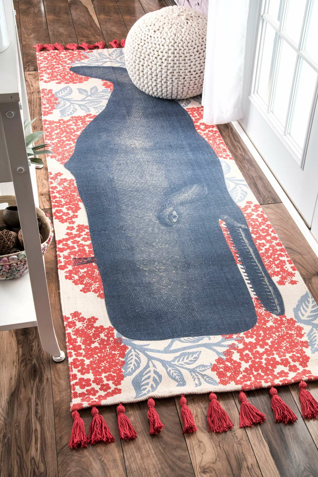Blue/Red Area Rug Rug Size: Rectangle 5' x 8'