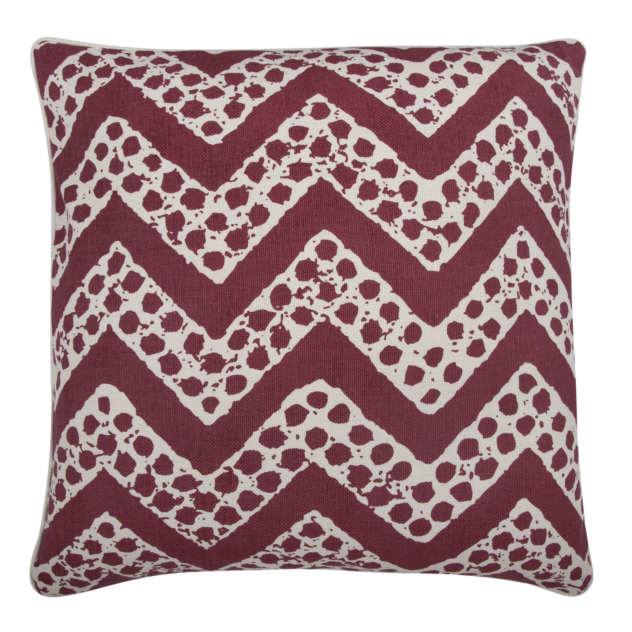 Fragments Chevron Cotton Throw Pillow Color: Ruby
