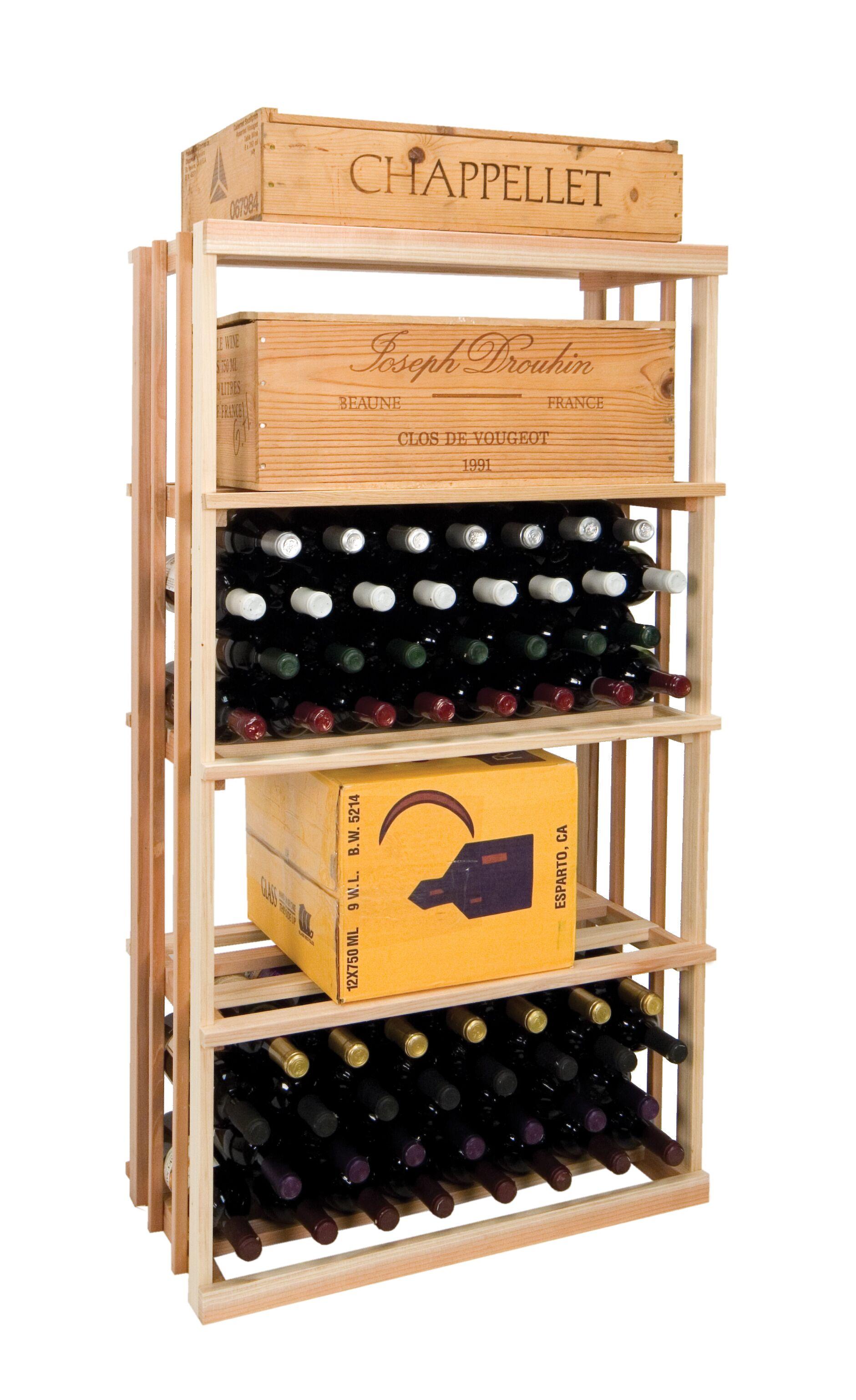 Vintner Series 120 Bottle Floor Wine Rack Finish: Classic Mahogany