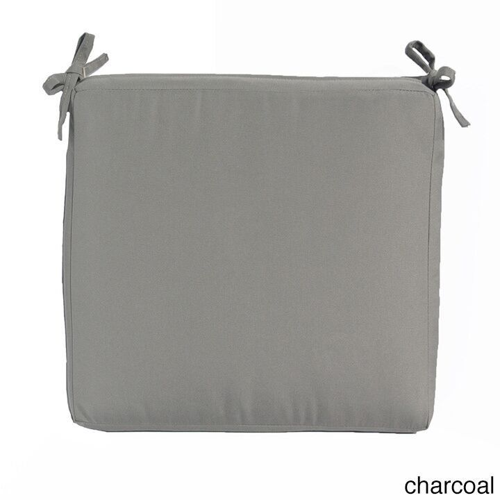 Indoor/Outdoor Sunbrella Ottoman Cushion Fabric: Iris