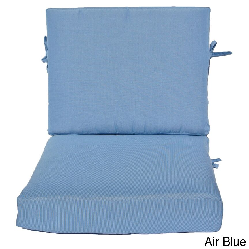 Indoor/Outdoor Sunbrella Lounge Chair Cushion Fabric: Indigo, Size: 24