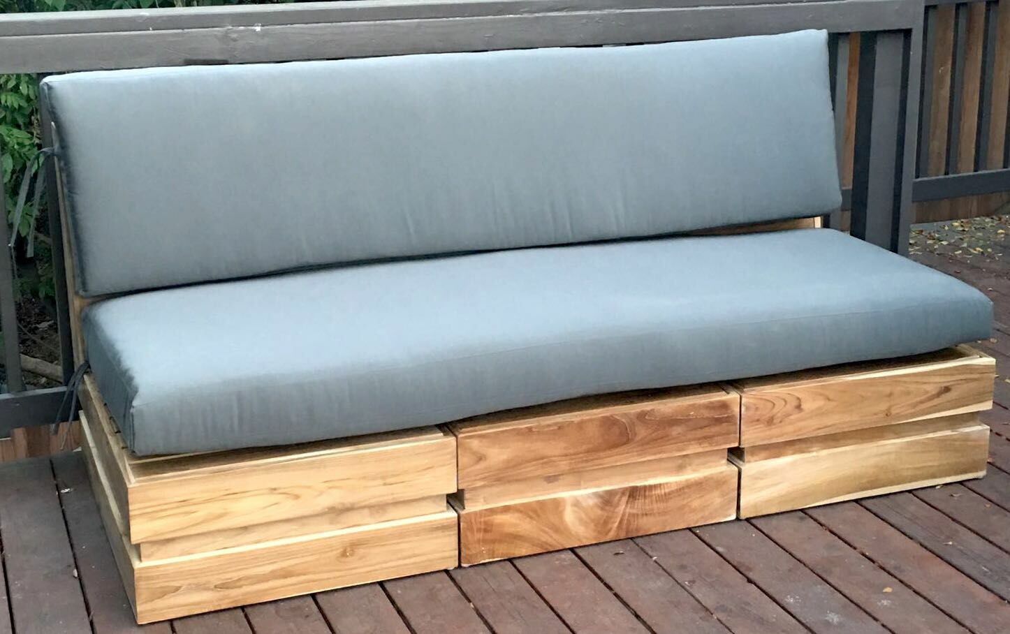 Seaside 5 Piece Teak Sunbrella Sofa Set with Cushions Fabric: Natural