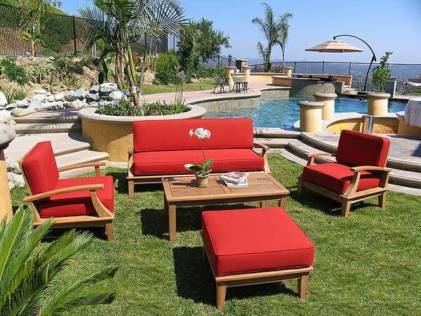 Yandell 5 Piece Teak Sofa Set with Sunbrella Cushions Frame Color: Sand