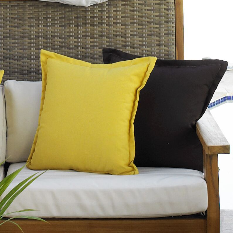 Outdoor Throw Pillow Color: Canvas Heather Beige