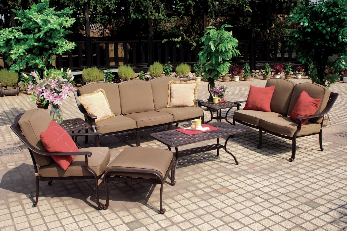 Thompsontown 7 Piece Sofa Set  with Cushion