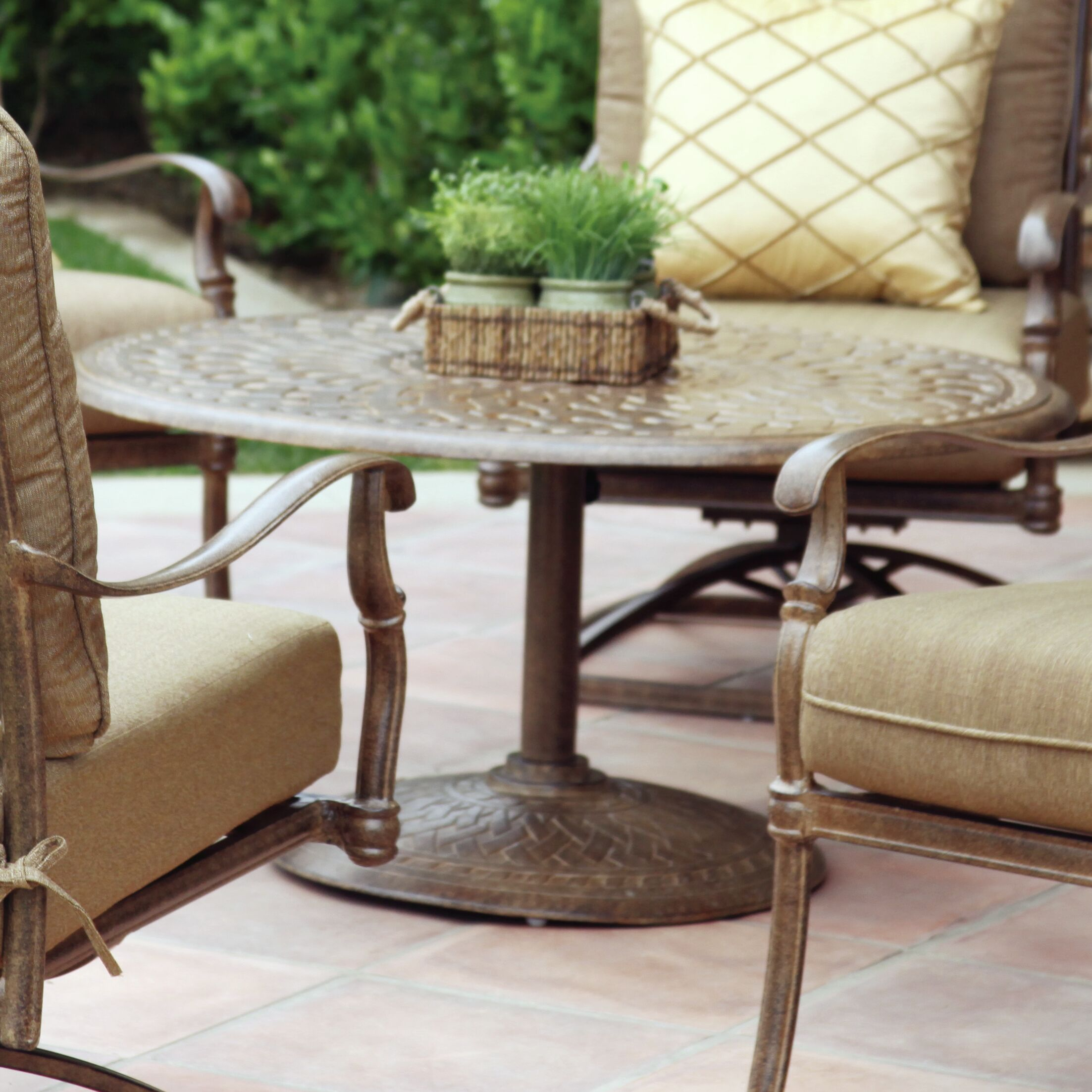 Fairmont Traditional Chat Table Color: Mocha, Table Size: 30