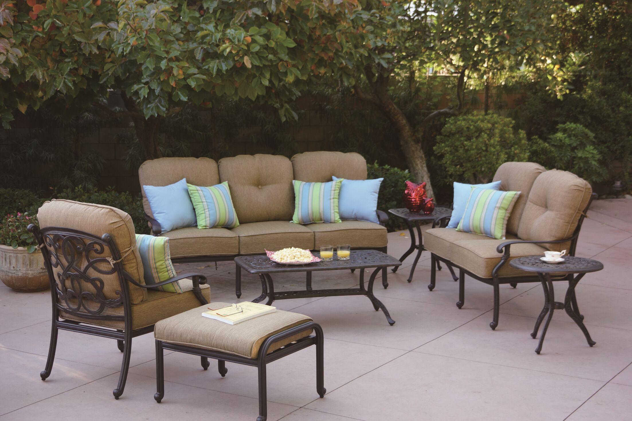 Calhoun 4 Piece Sofa Set with Cushions
