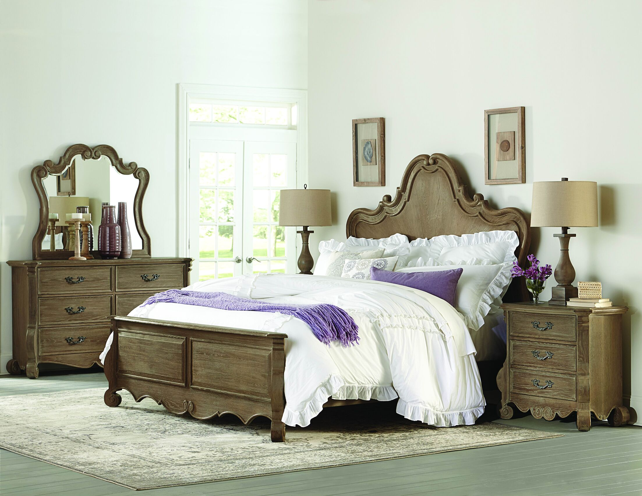 Chrysanthe Panel Configurable Bedroom Set