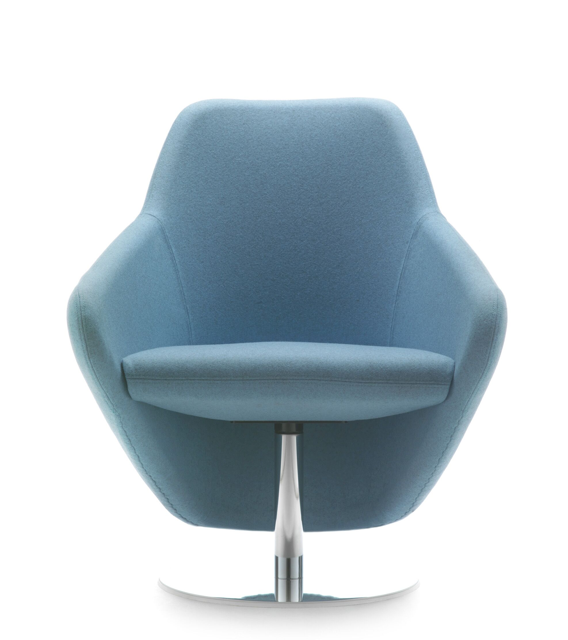 Taxido Swivel Lounge Chair Finish: White, Upholstery: Momentum Fuse Fabric Pimento
