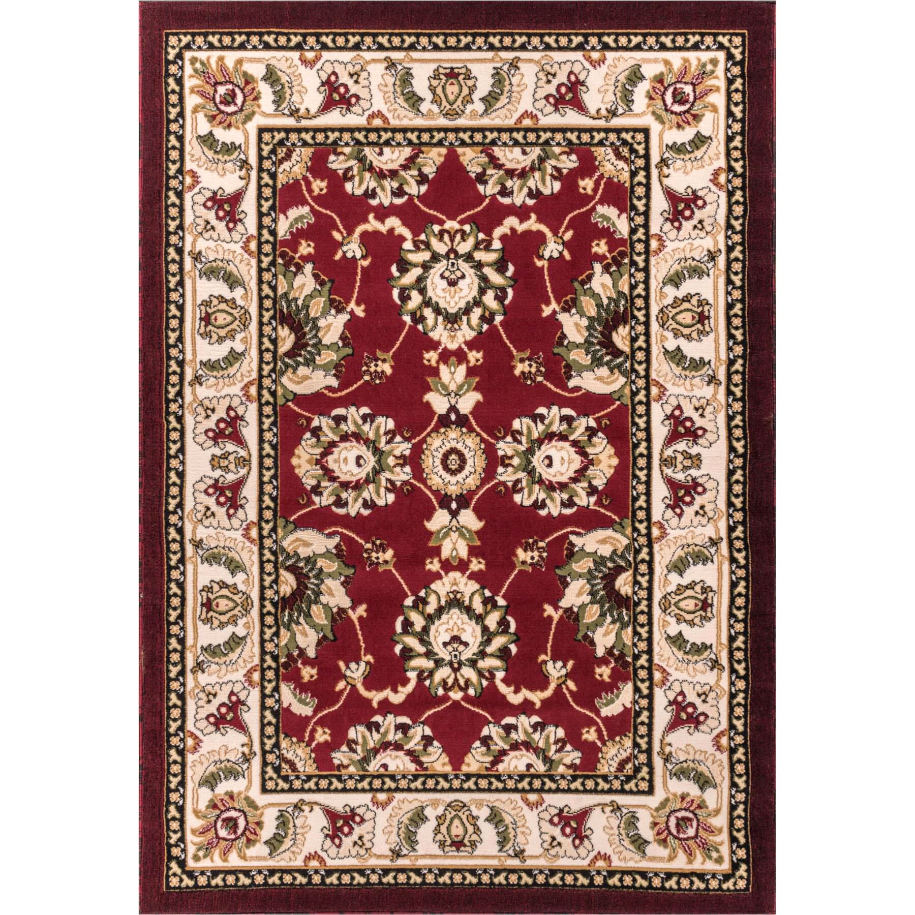 Comfy Living Red/Ivory Area Rug Rug Size: Rectangle 5' x 7'2''