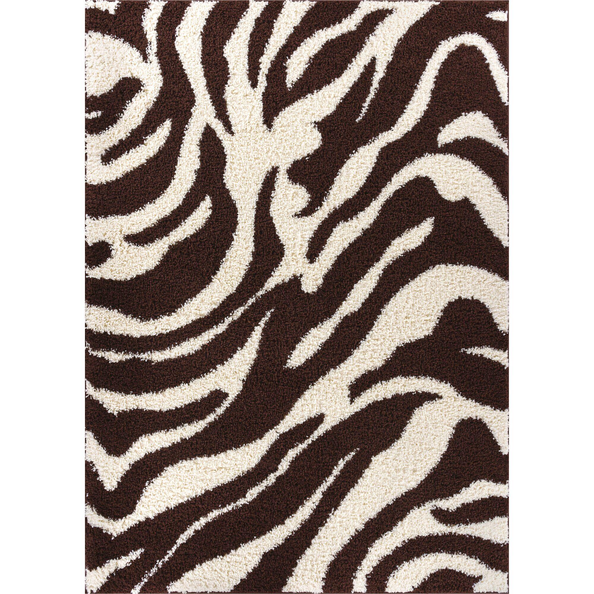 Madison Shag Brown Safari Area Rug Rug Size: 5' x 7'2
