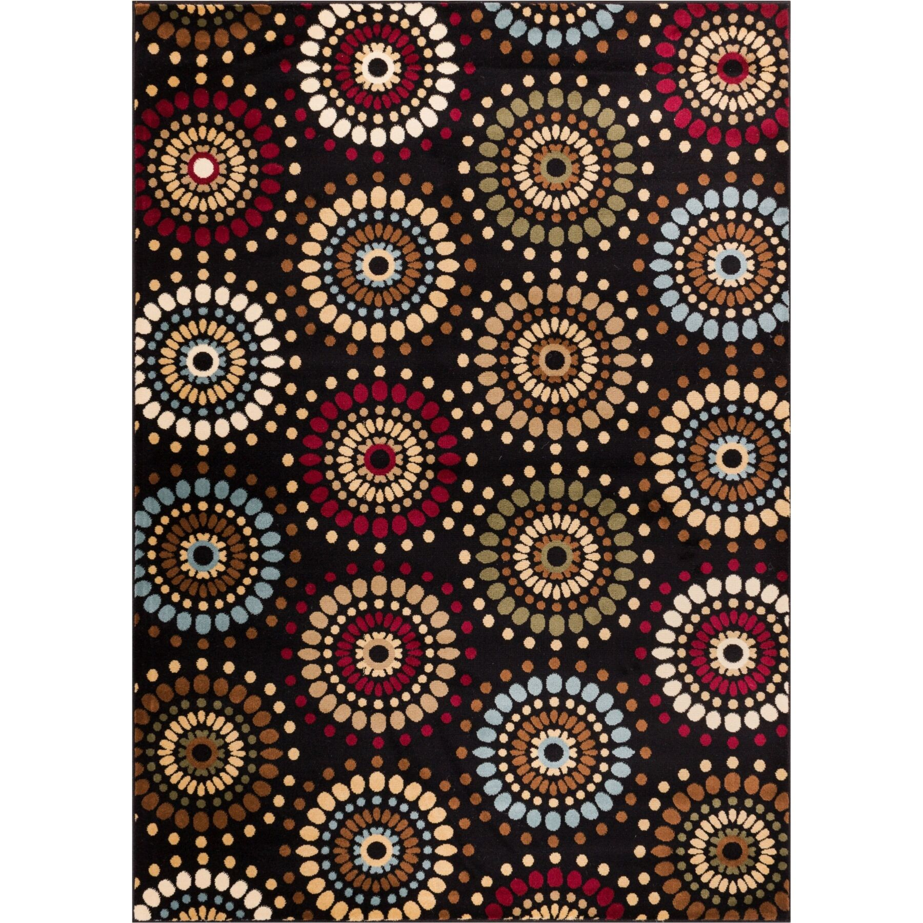Barclay Orchid Black Fields Dots Area Rug Rug Size: Rectangle 7'10