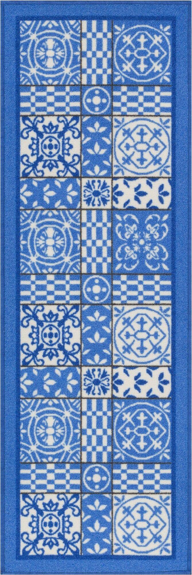 Petrillo Blue Area Rug Rug Size: Runner 2' x 7'