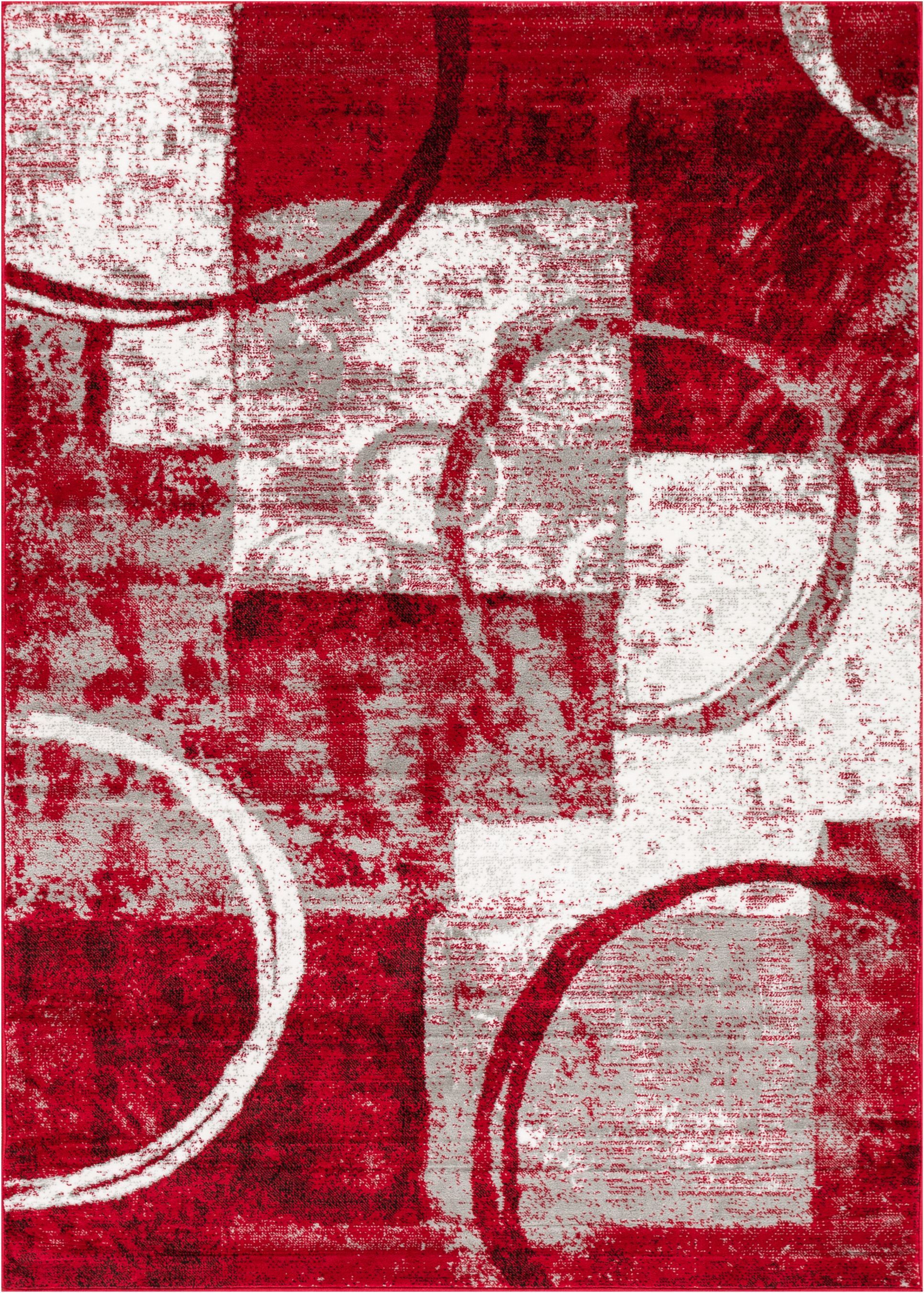 Ash Red Indoor Area Rug Rug Size: Rectangle 9'3