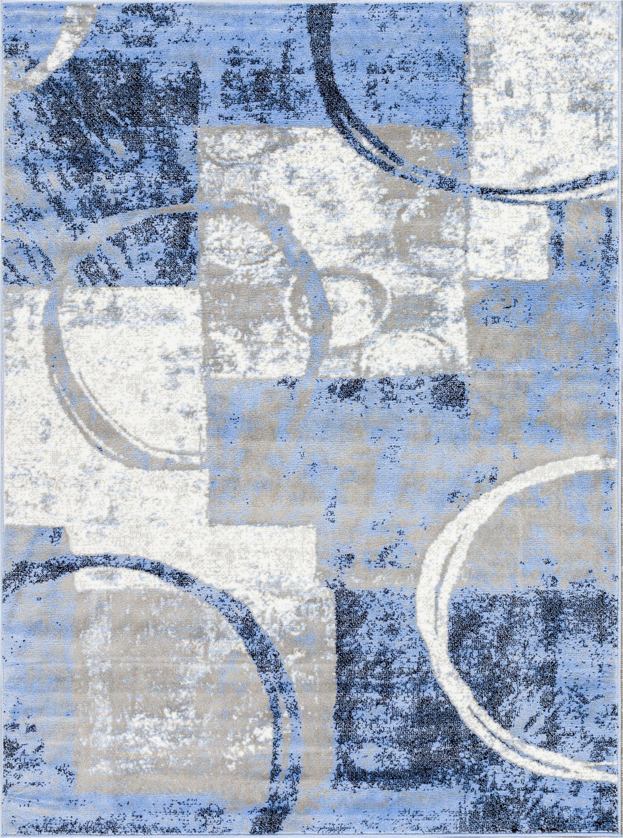 Ash Blue Indoor Area Rug Rug Size: Rectangle 5'3
