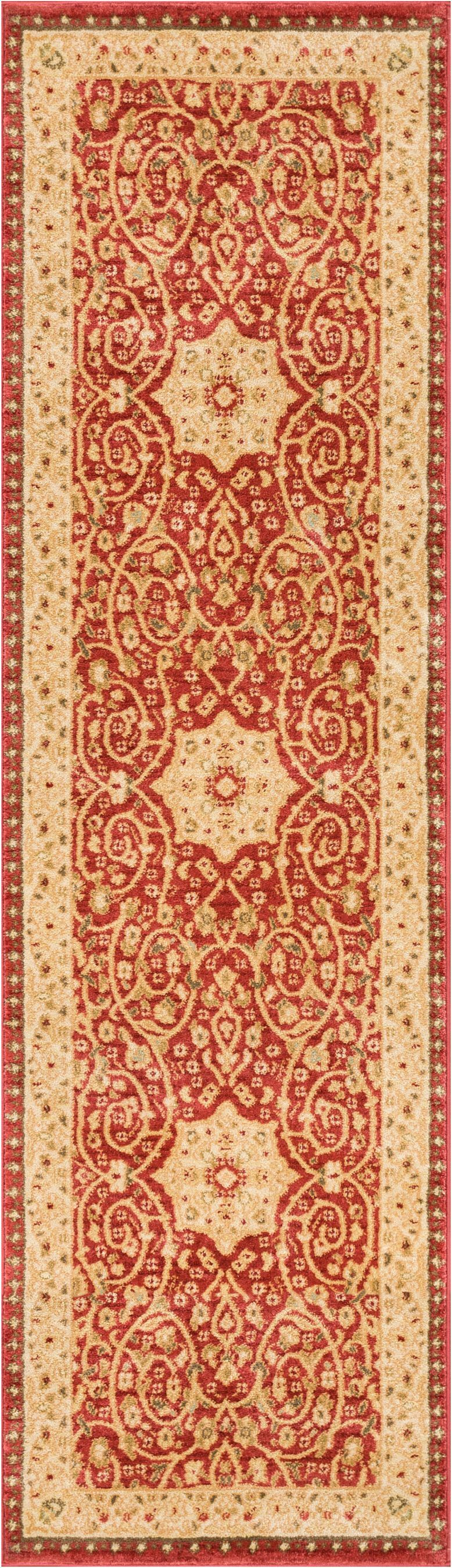Allerdale Oriental Red/Ivory Area Rug Rug Size: 5'3