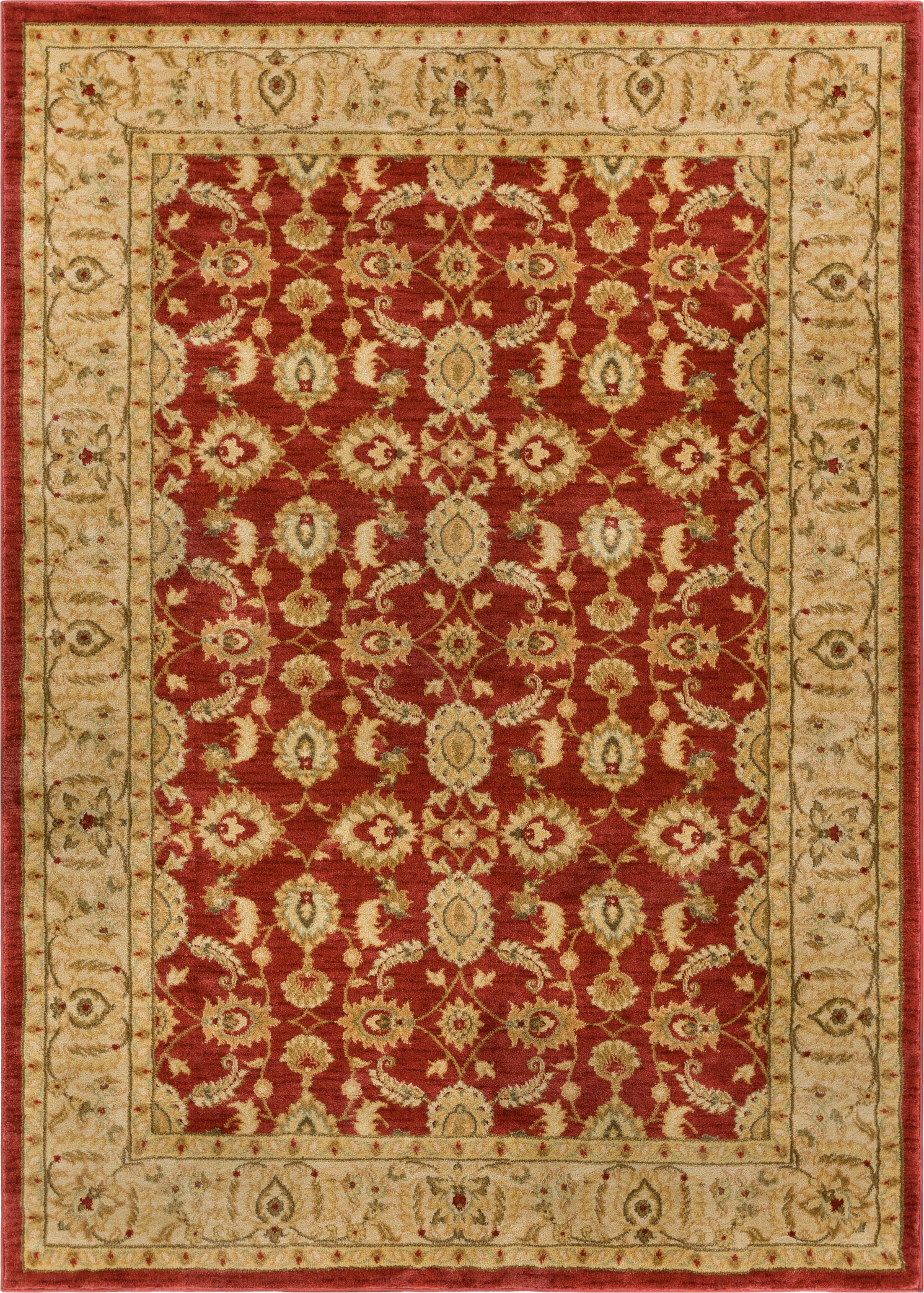 Allerdale Traditional Oriental Red/Beige Area Rug Rug Size: 5'3