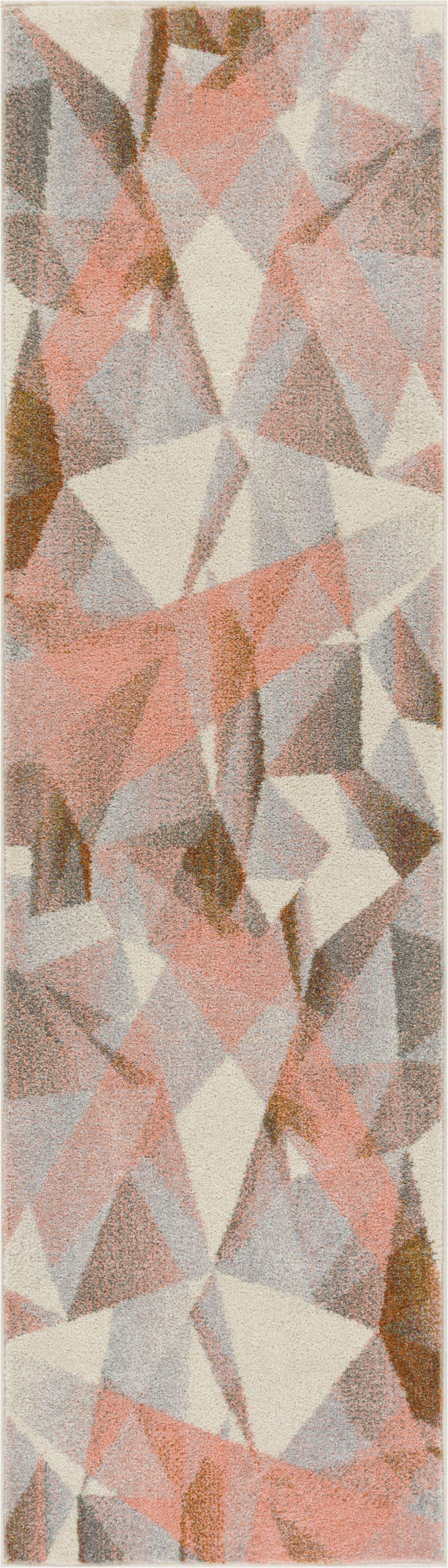 Camren Modern Geometric Prisma Triangle Pink Area Rug Rug Size: 7'10