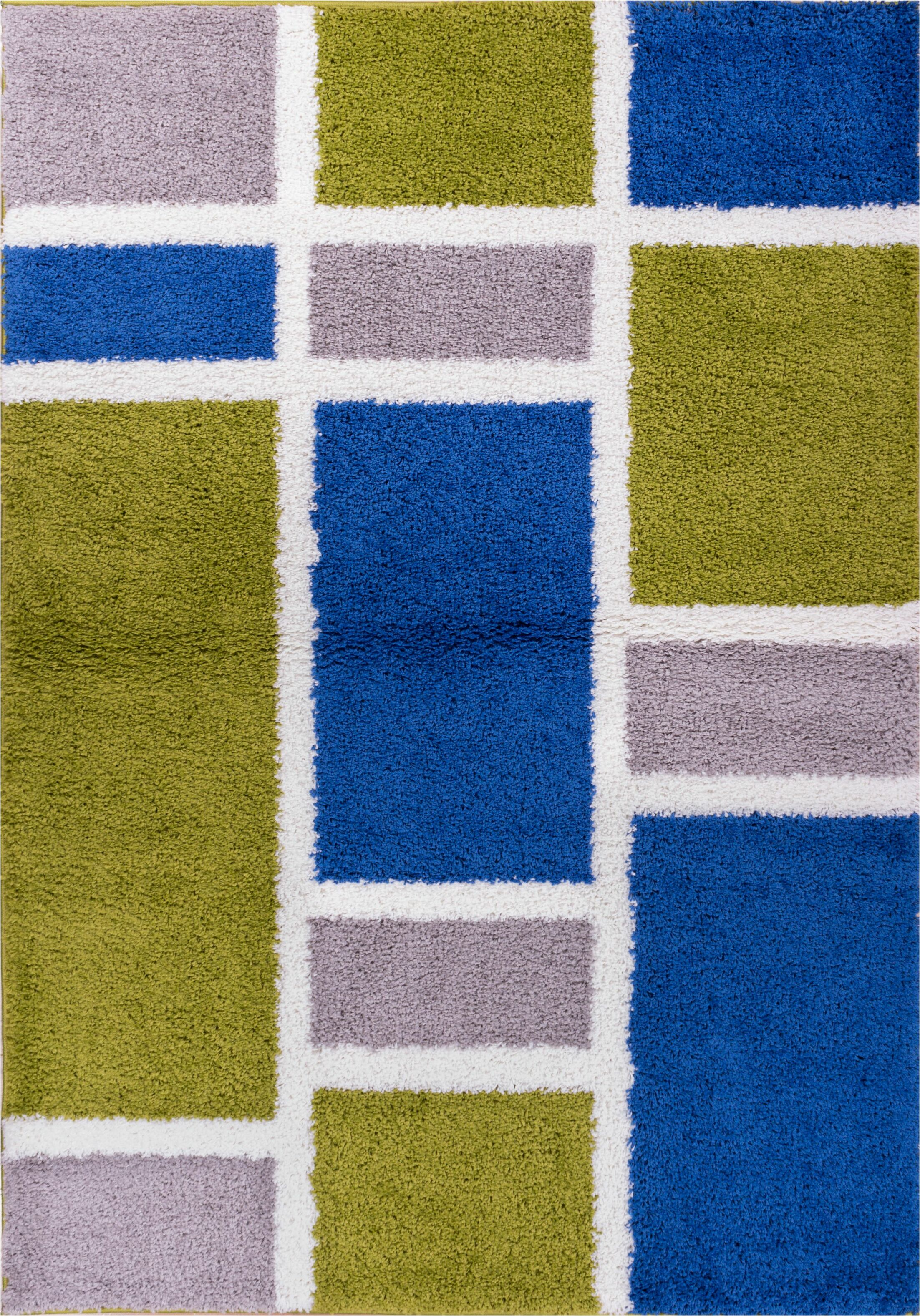 Dondre Green/Blue Indoor Area Rug Rug Size: 6'7'' x 9'10''