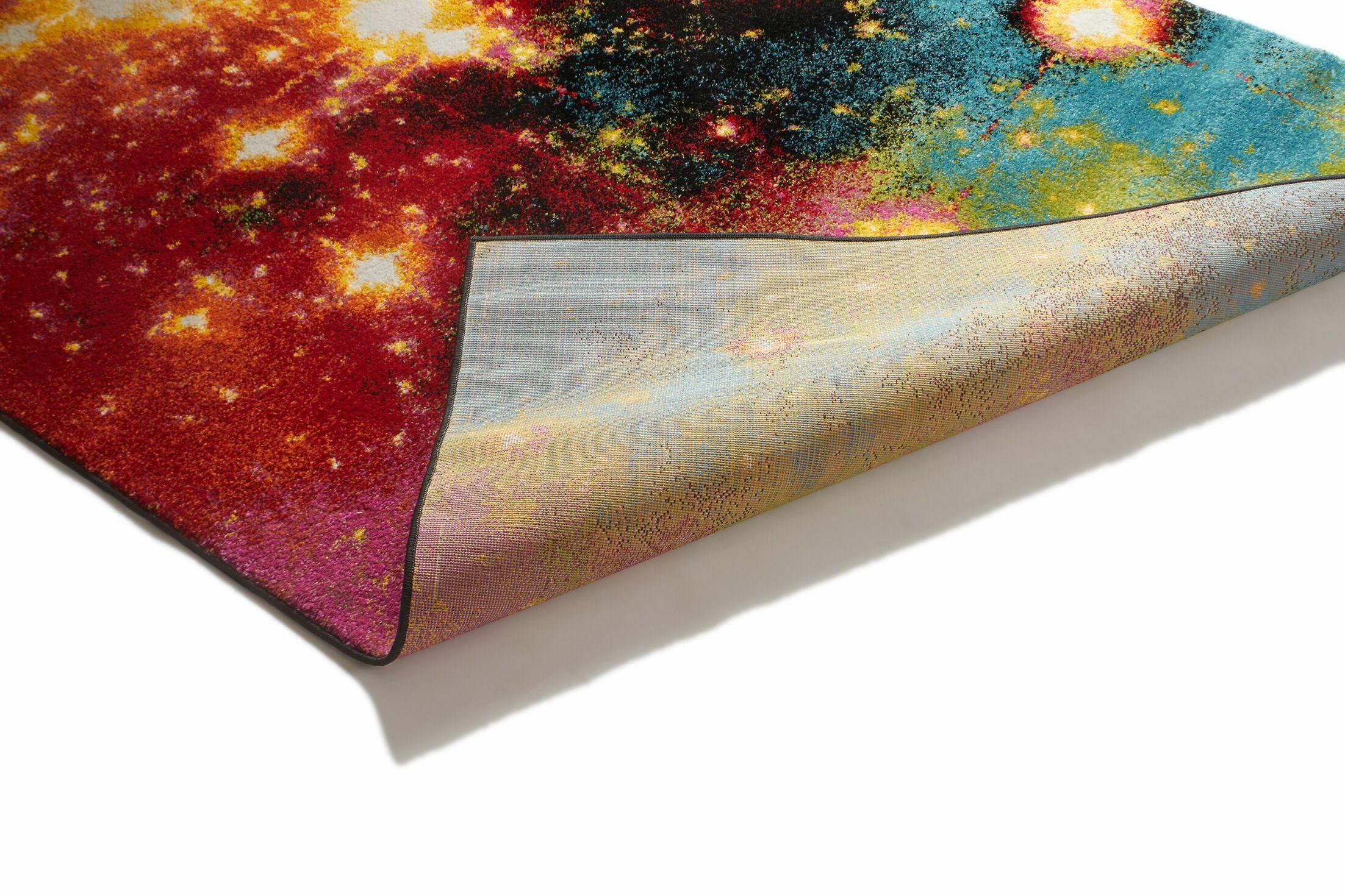 Viva Stellar Modern Stardust Area Rug Rug Size: 5'3