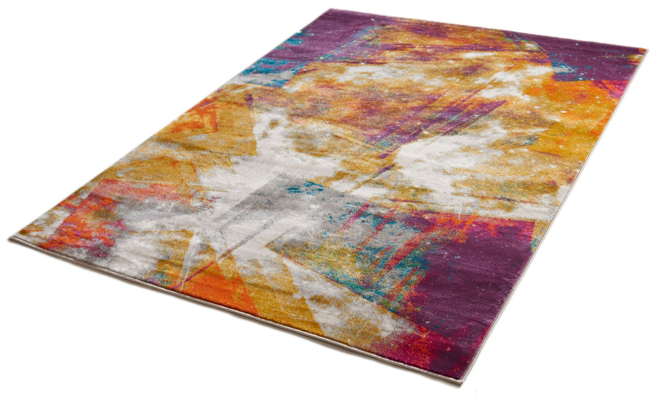 Felicienne Modern Abstract Area Rug Rug Size: 7'10