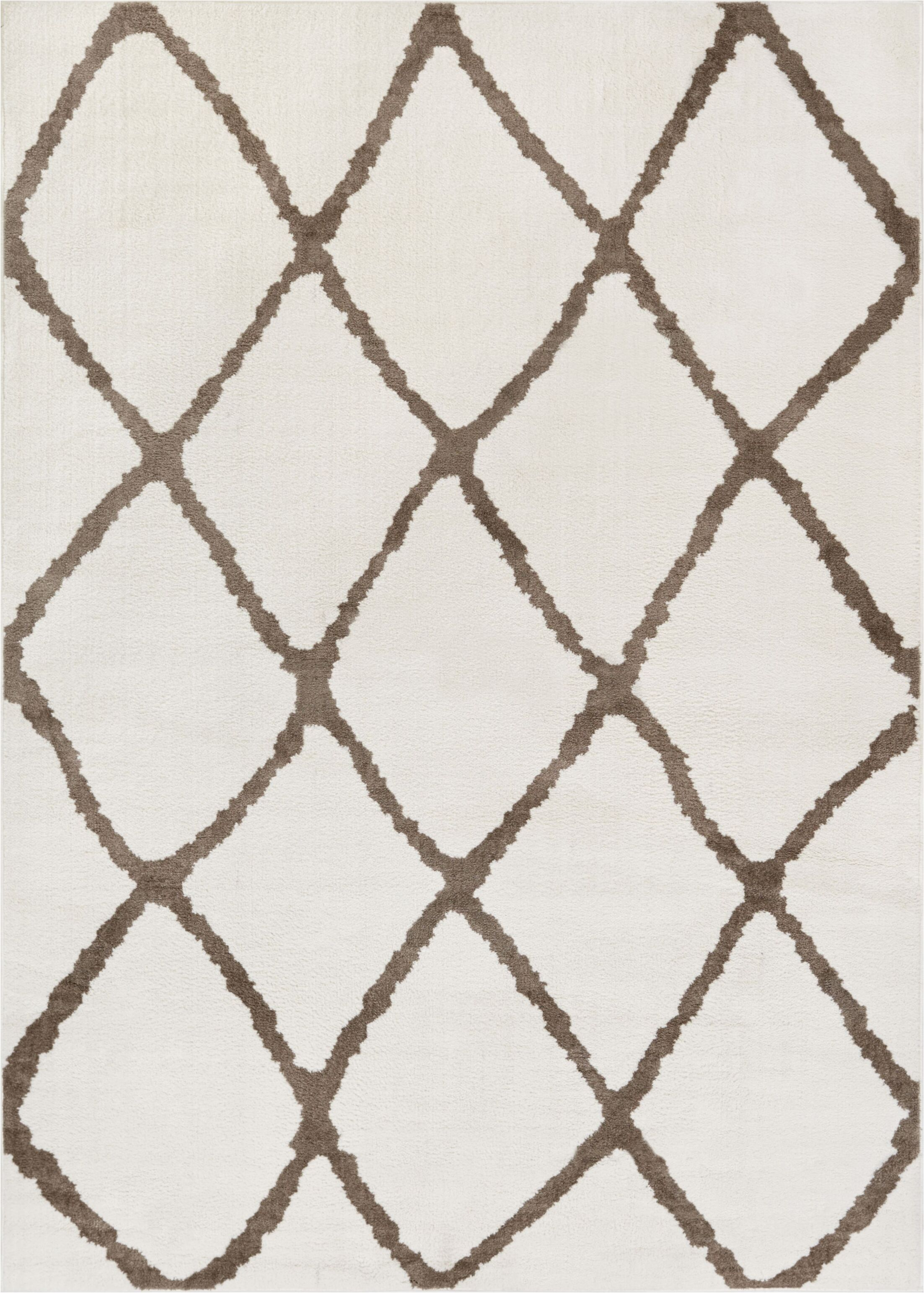 Patterson Modern Moroccan Trellis Beige/Brown Area Rug Rug Size: 7'10