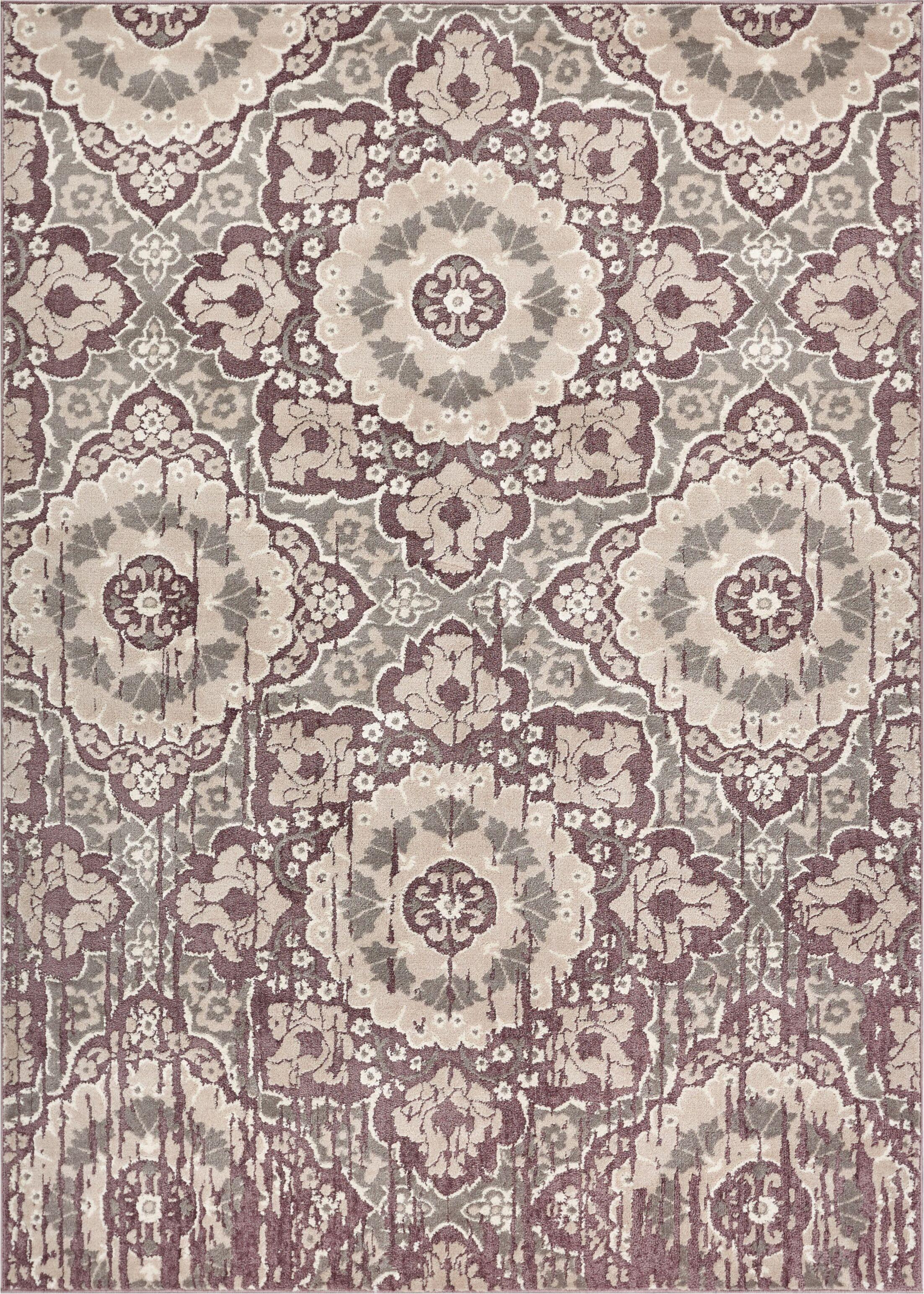 Draper Soft Vintage Lavender Area Rug Rug Size: 5'3