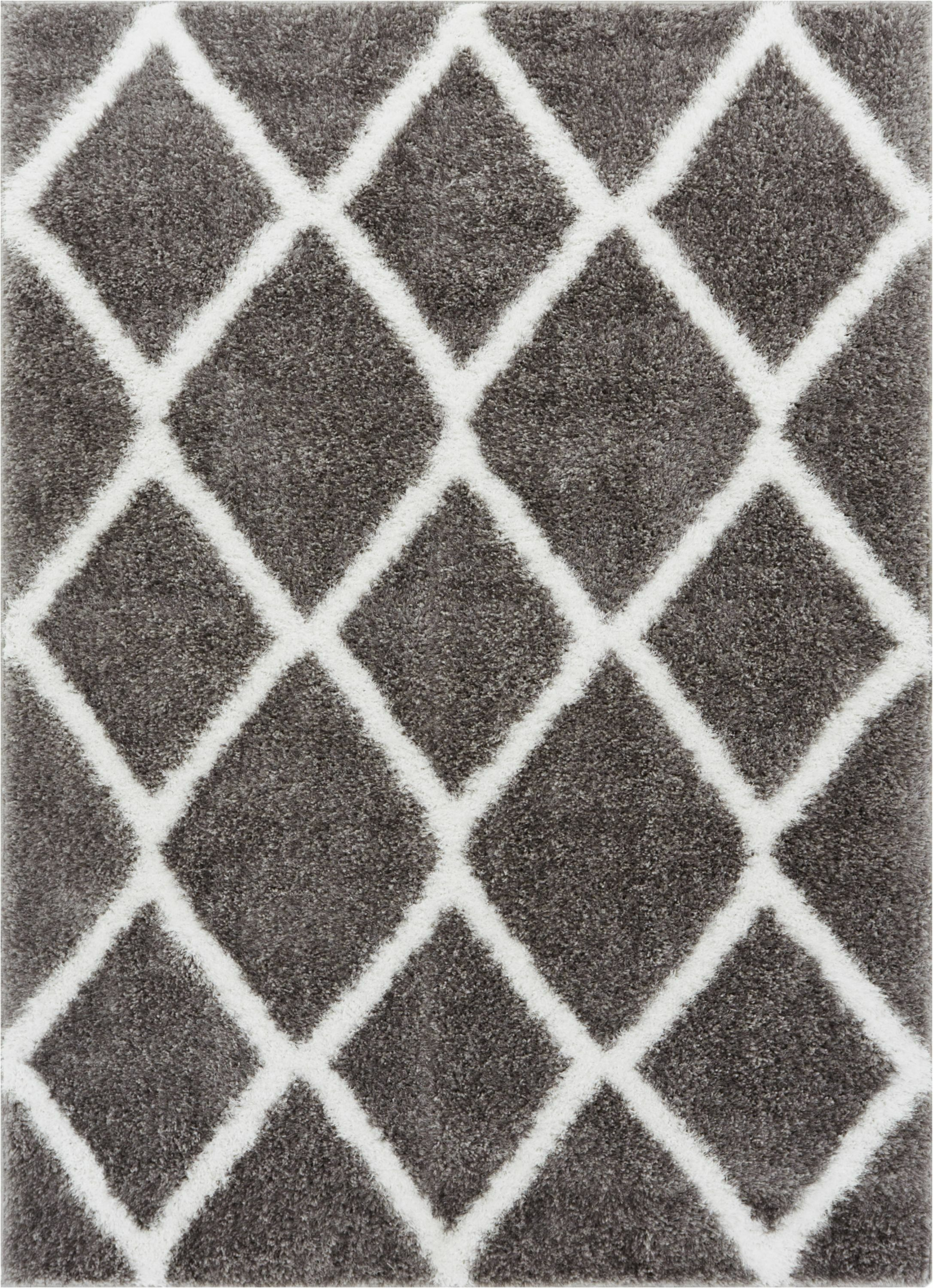 Puentes Shag Gray Area Rug Rug Size: Rectangle 6'7