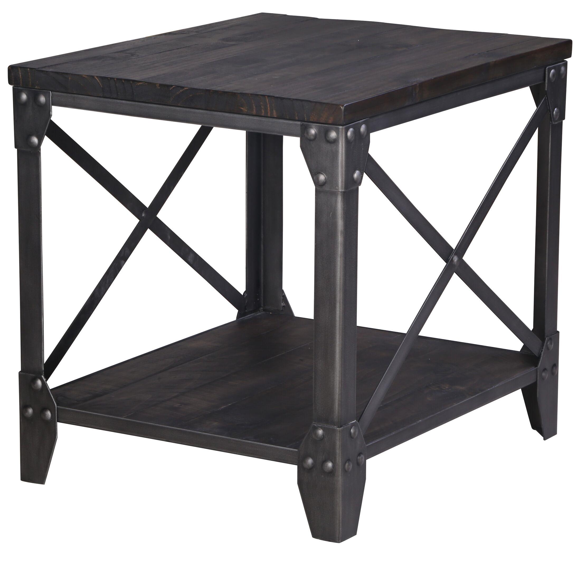 Ensley Industrial End Table