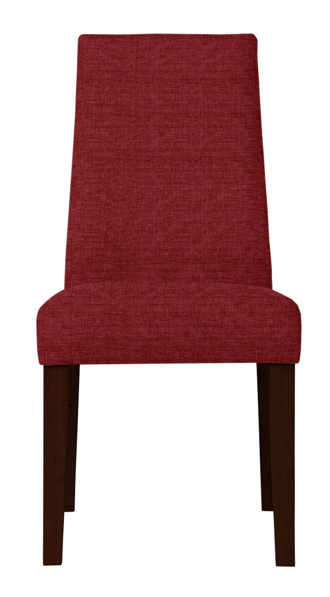 Haddonfield Dried Birch Hardwood Side Chair Upholstery: Red
