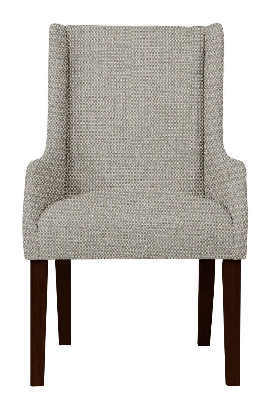Larrabee Birch Hardwood Framed Arm Chair Upholstery Color: Light Gray