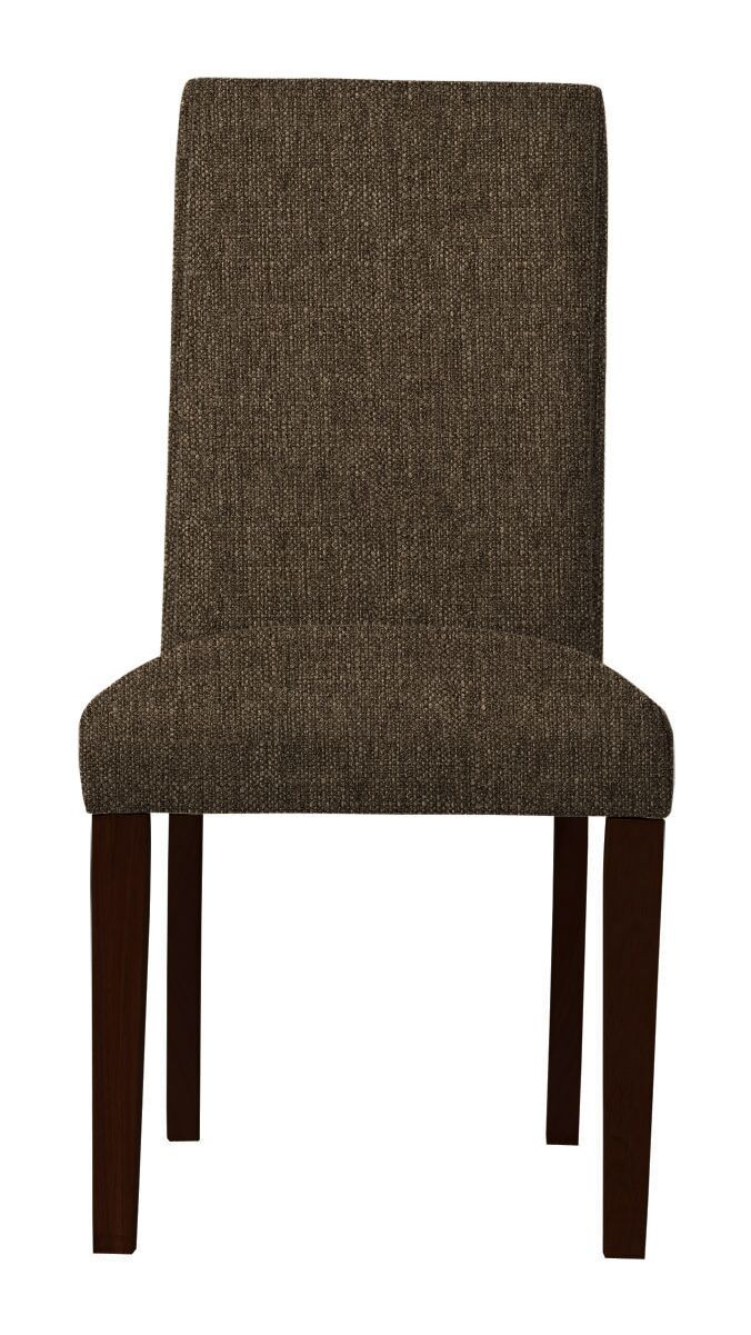 Beachwood Solid Upholstered Parsons Chair Upholstery: Brown