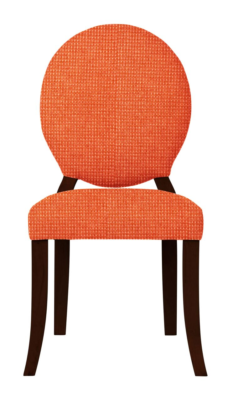 Lashley Wood Legs Side Chair Upholstery Color: Orange