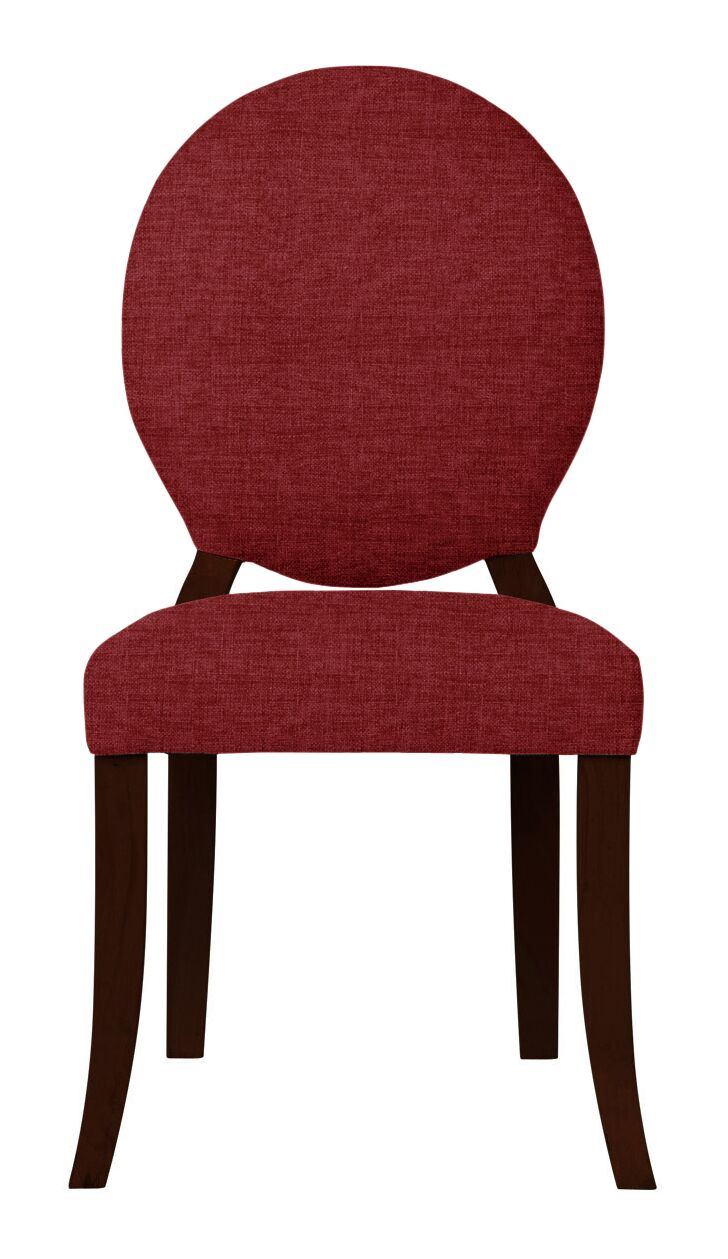 Lashley Solid Side Chair Upholstery: Red