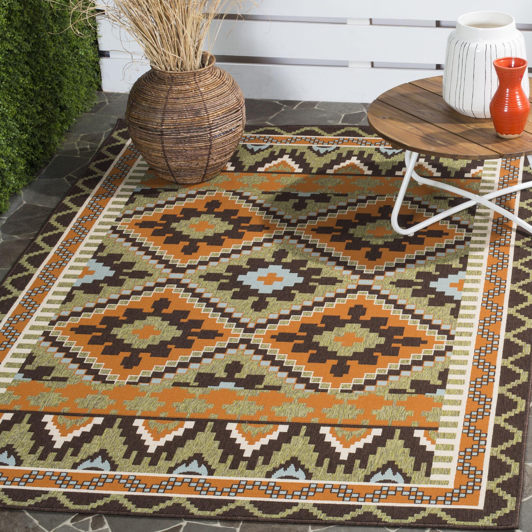 Henbury Brown Indoor/Outdoor Area Rug Rug Size: Rectangle 6'7