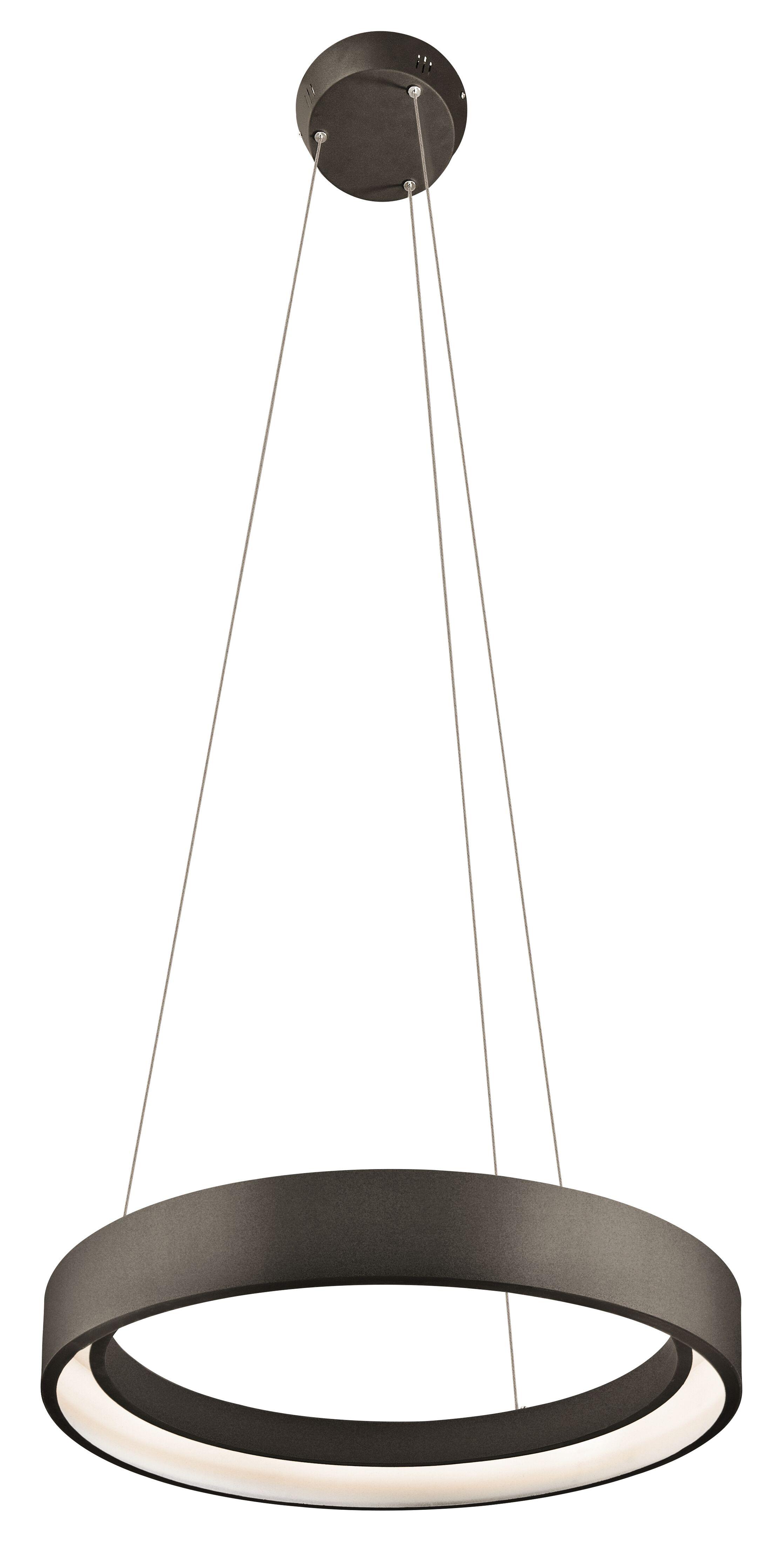 Rhianna  1-Light Drum Pendant Finish: Sand Textured Black, Size: 2.25