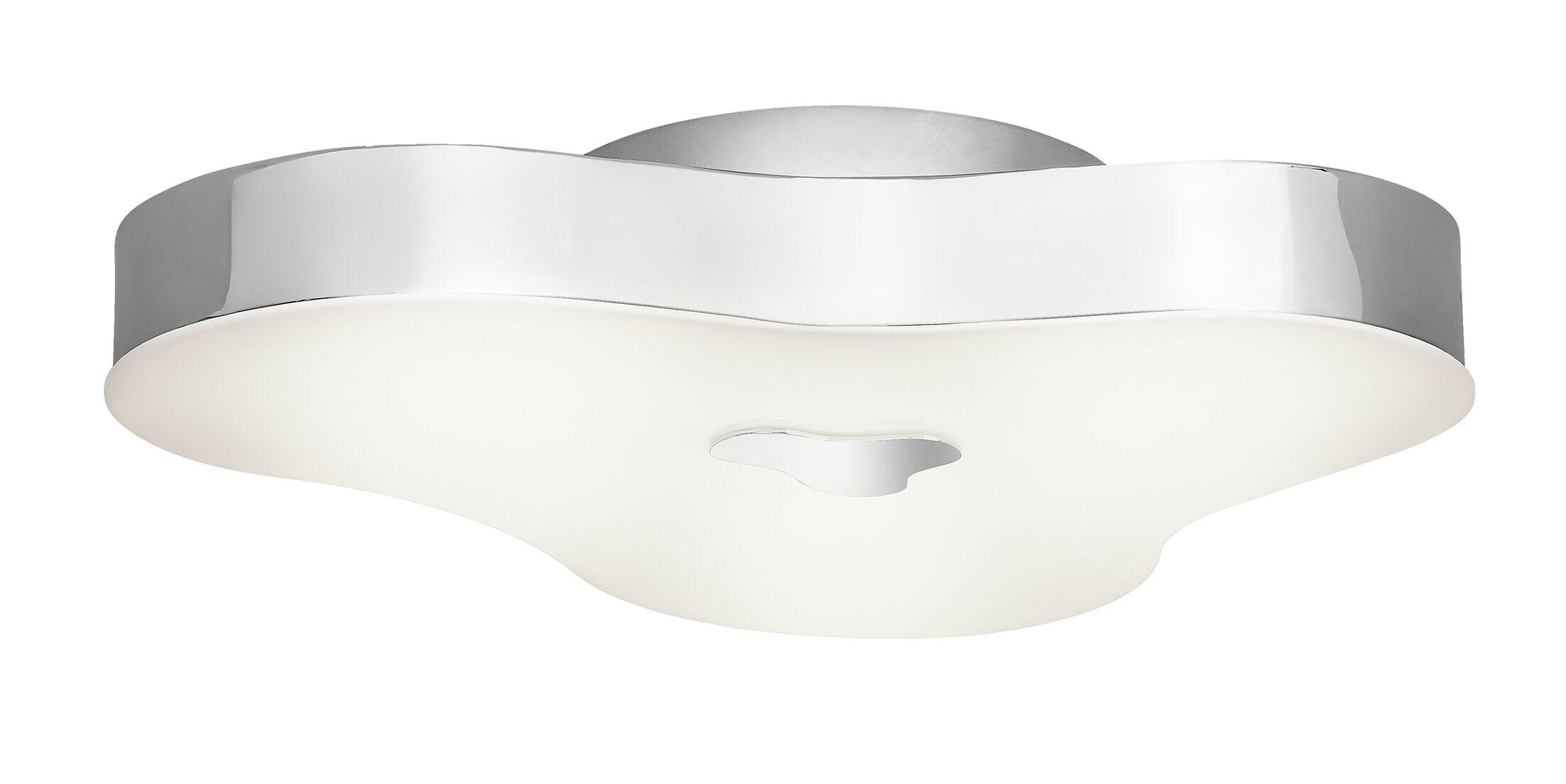 Carissa Contemporary 1-Light Semi Flush Mount