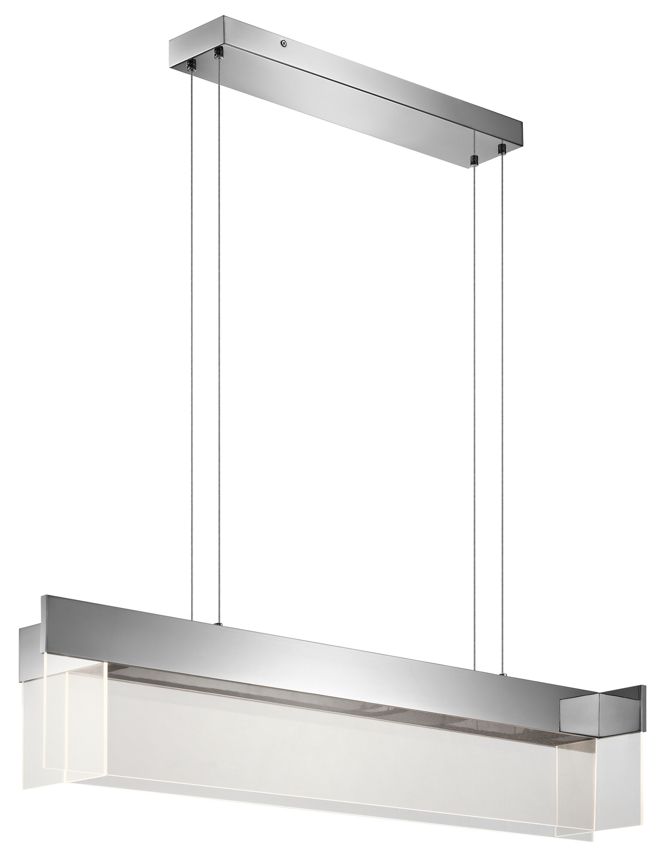 Linear 4-Light Kitchen Island Pendant Size: 9