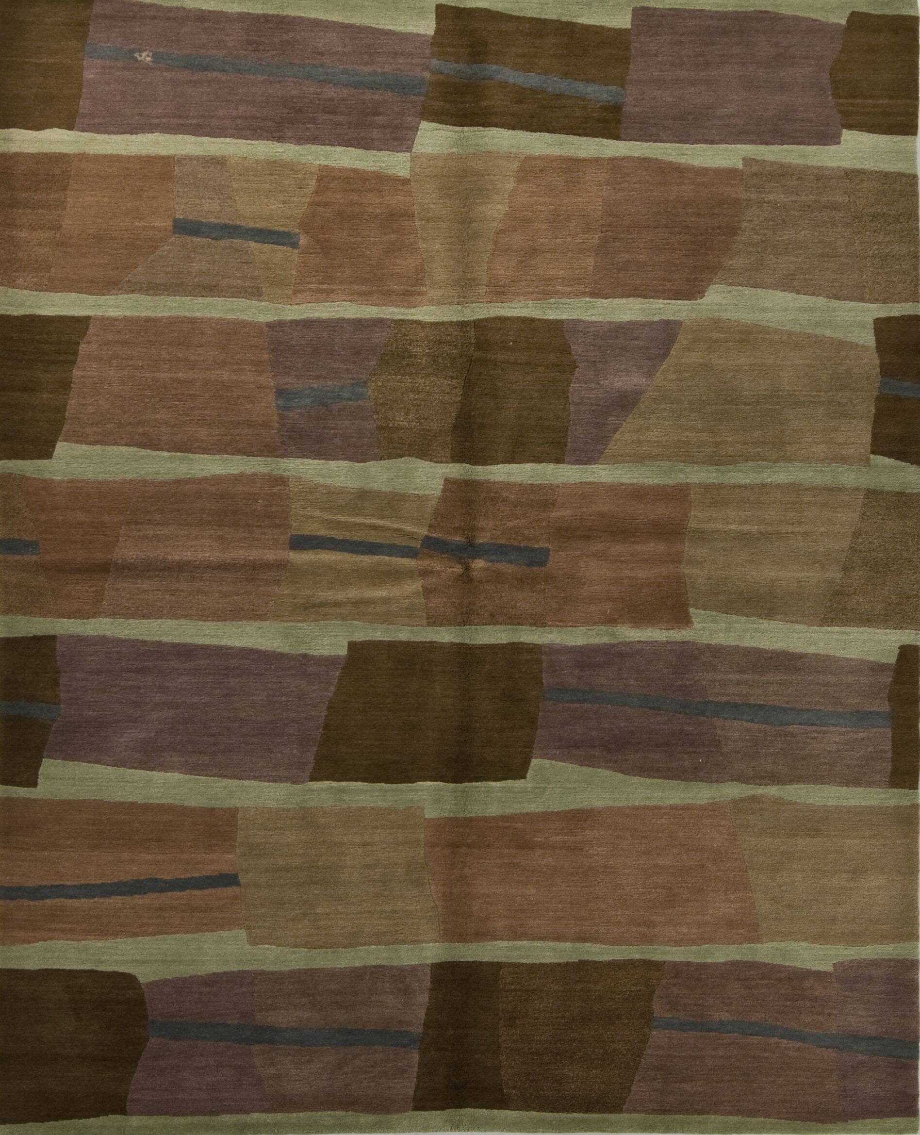Designers' Reserve Brown/Green Area Rug Rug Size: 3' x 5'