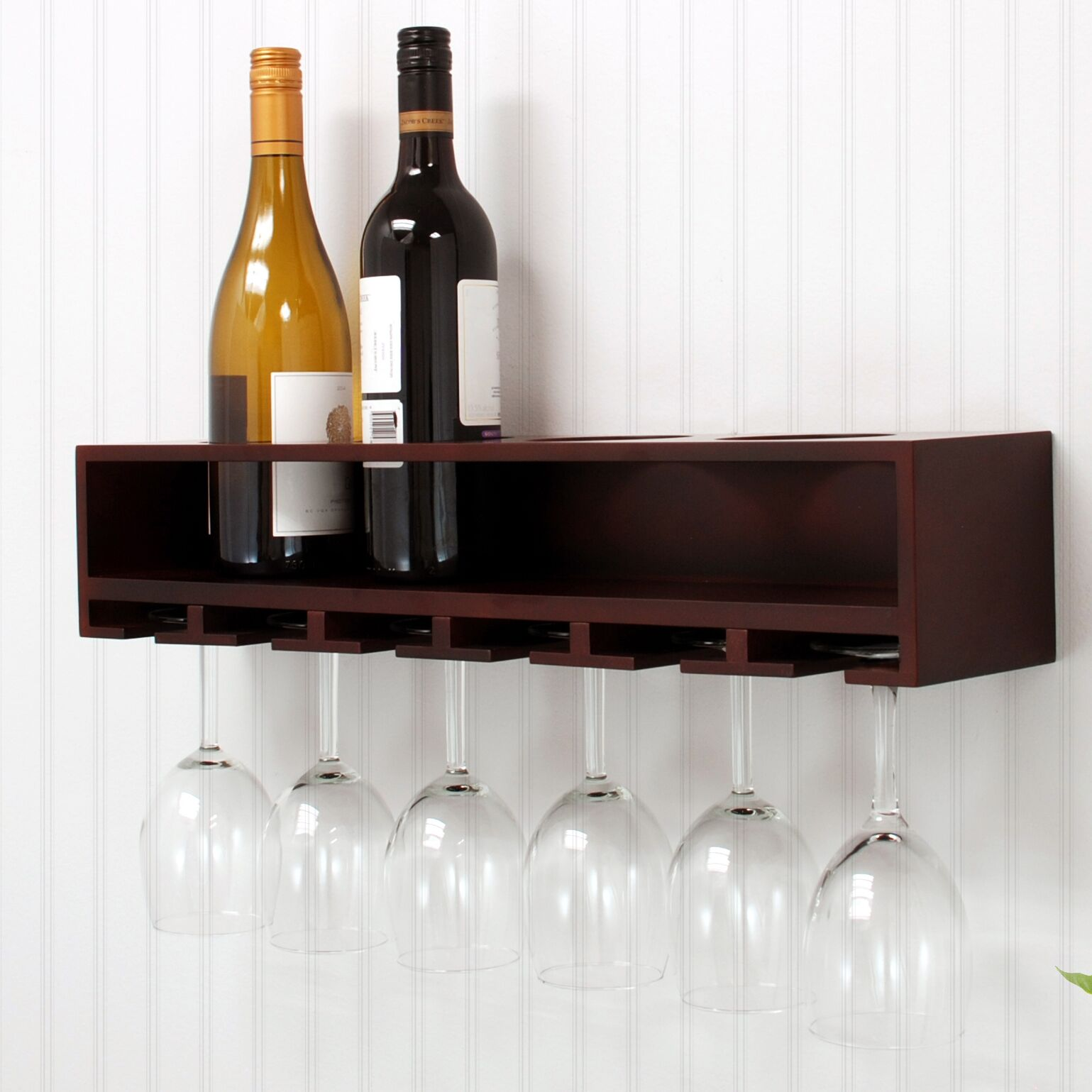 Claret 4 Bottle Wall Mounted Wine Rack