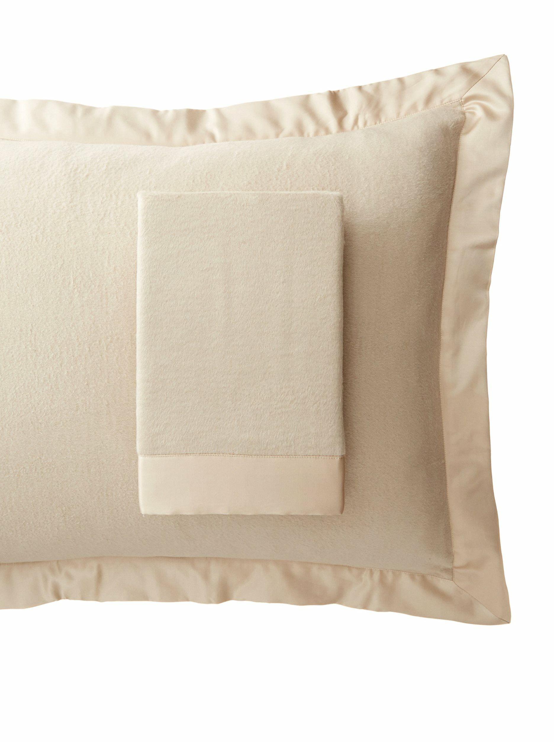 Luxury Pure Silk Fleece Pillow Sham Color: Creamy Latte, Size: Queen
