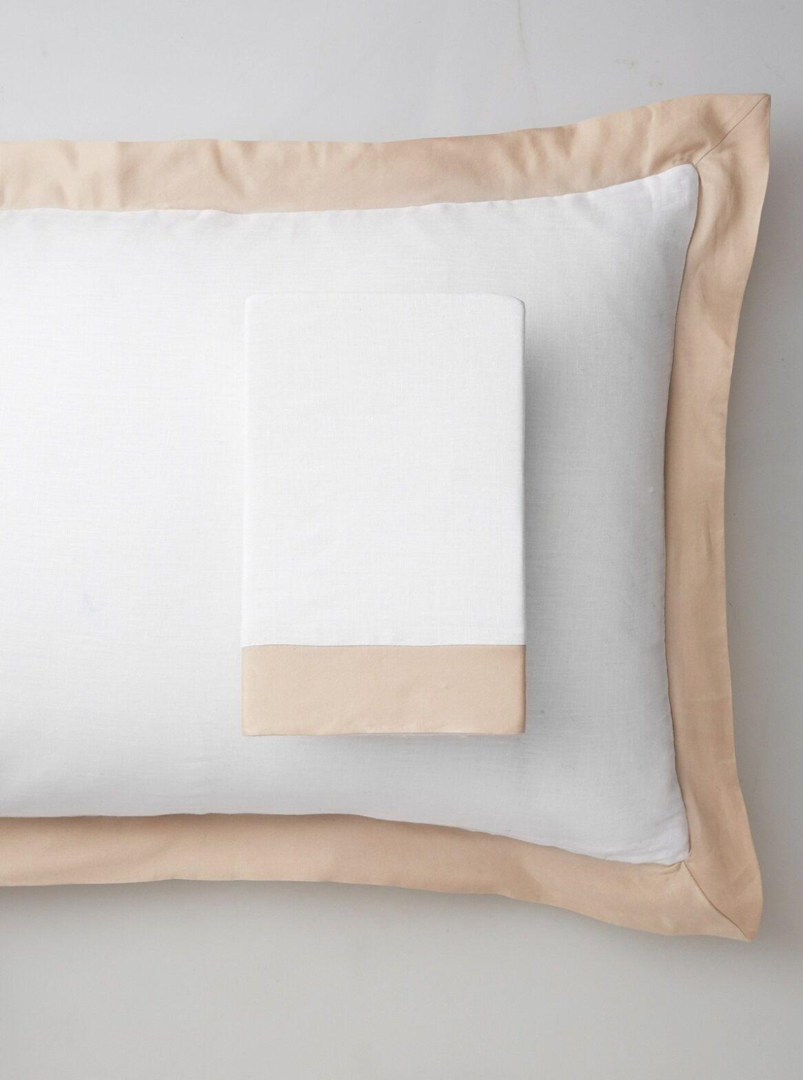 Luxury Pure Linen Pillow Sham Size: Standard, Color: Creamy Latte