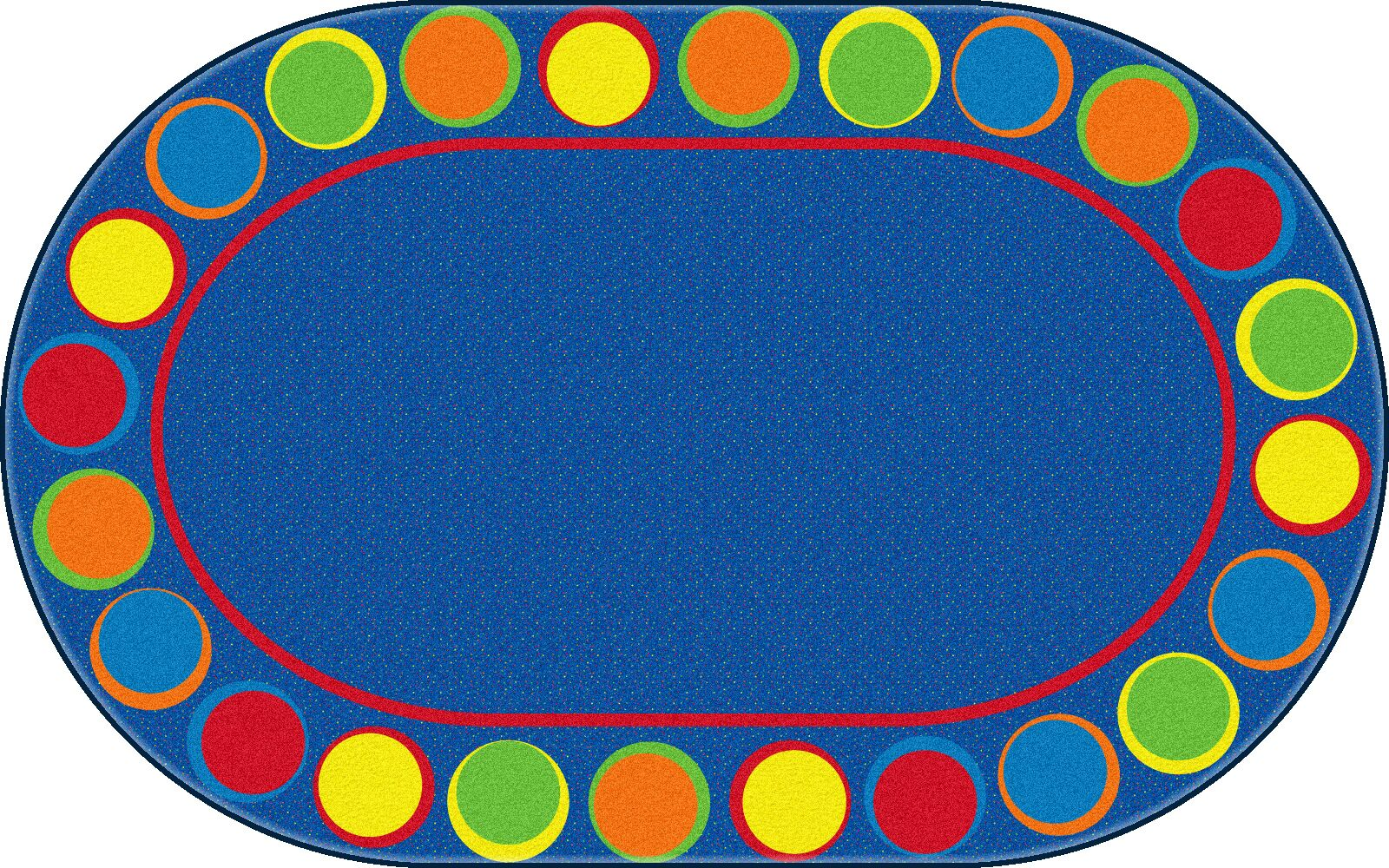 Sitting Spots Blue/Yellow Area Rug