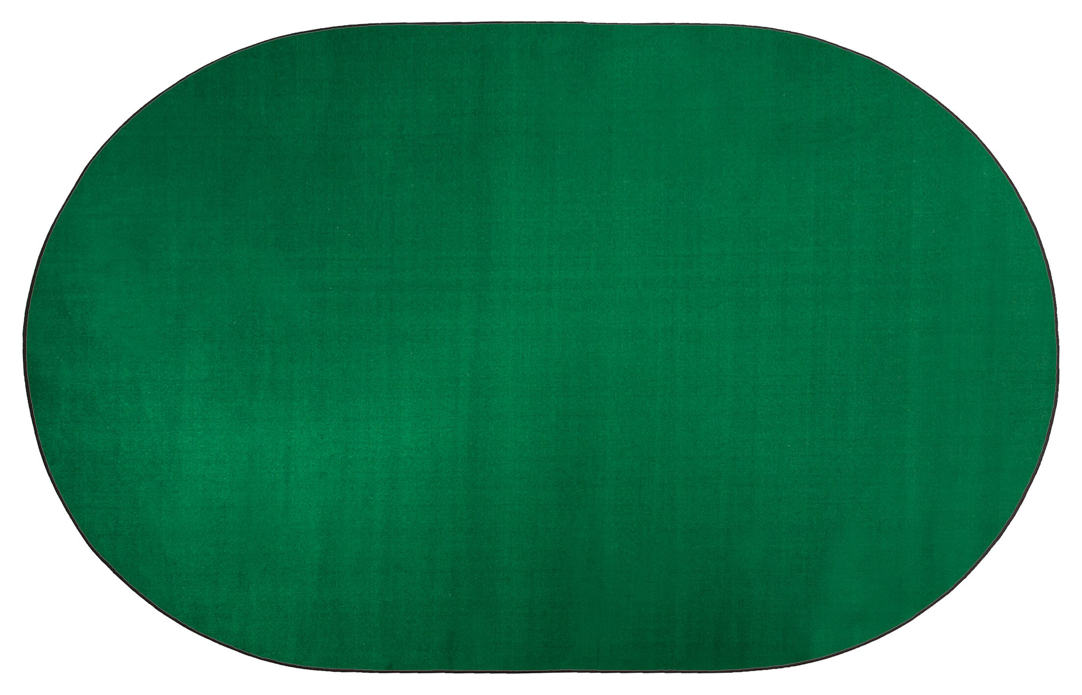 Americolors Clover Green Area Rug Rug Size: Oval 12' x 18'