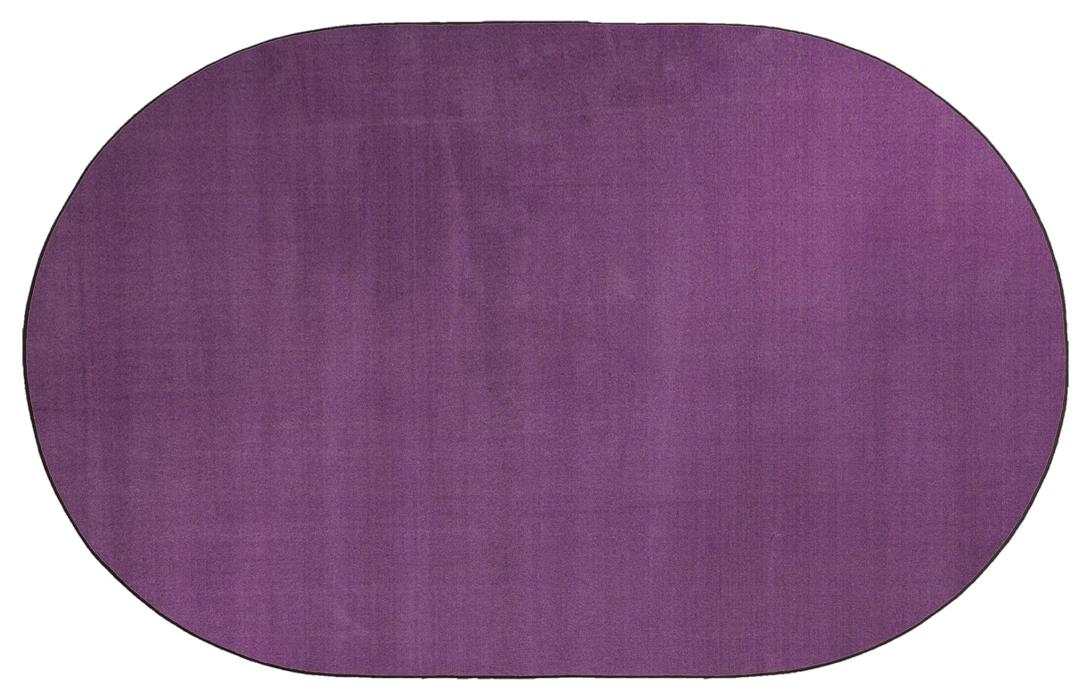 Americolors Pretty Purple Area Rug Rug Size: Oval 7'6