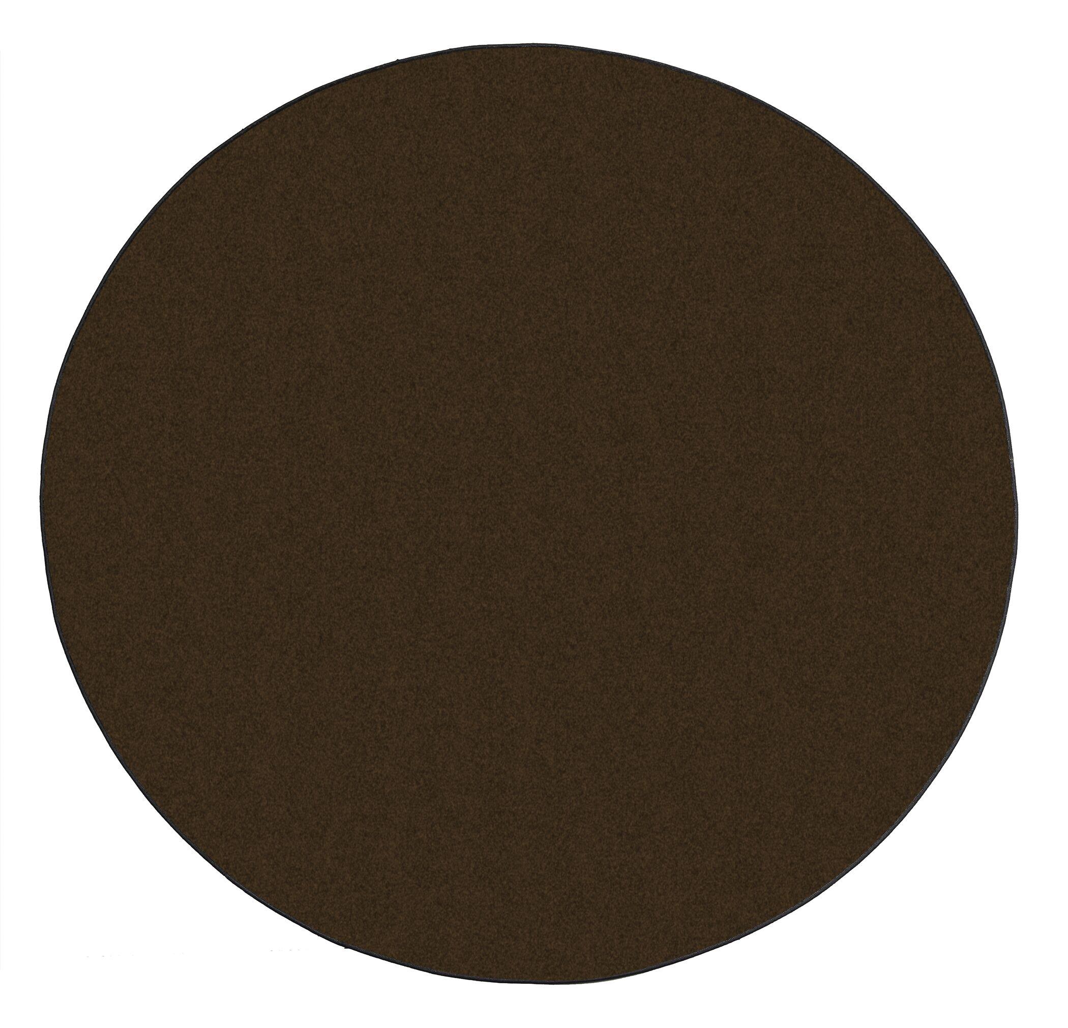 Americolors Chocolate Area Rug Rug Size: Round 6'