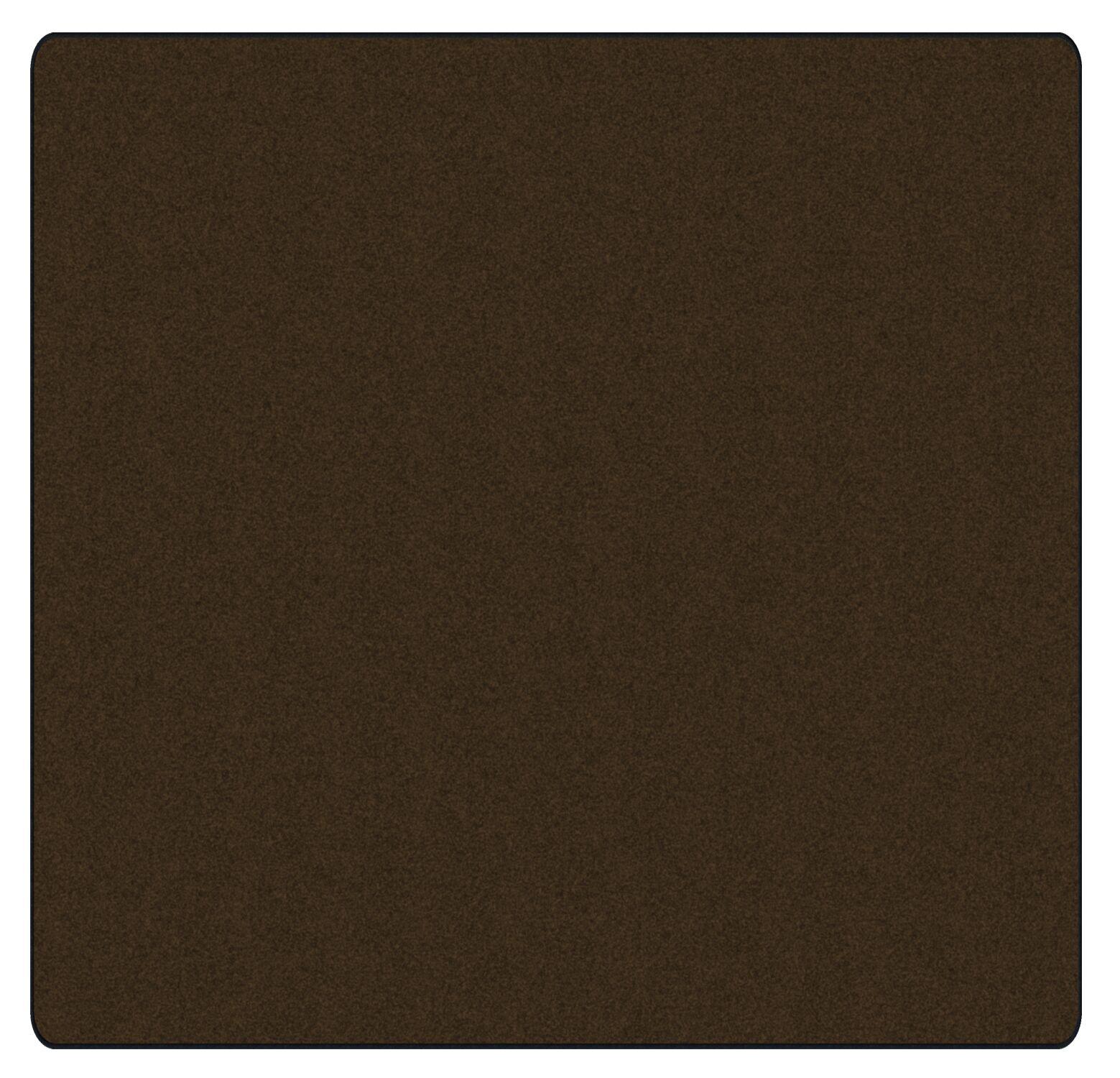 Americolors Chocolate Area Rug Rug Size: Square 6'