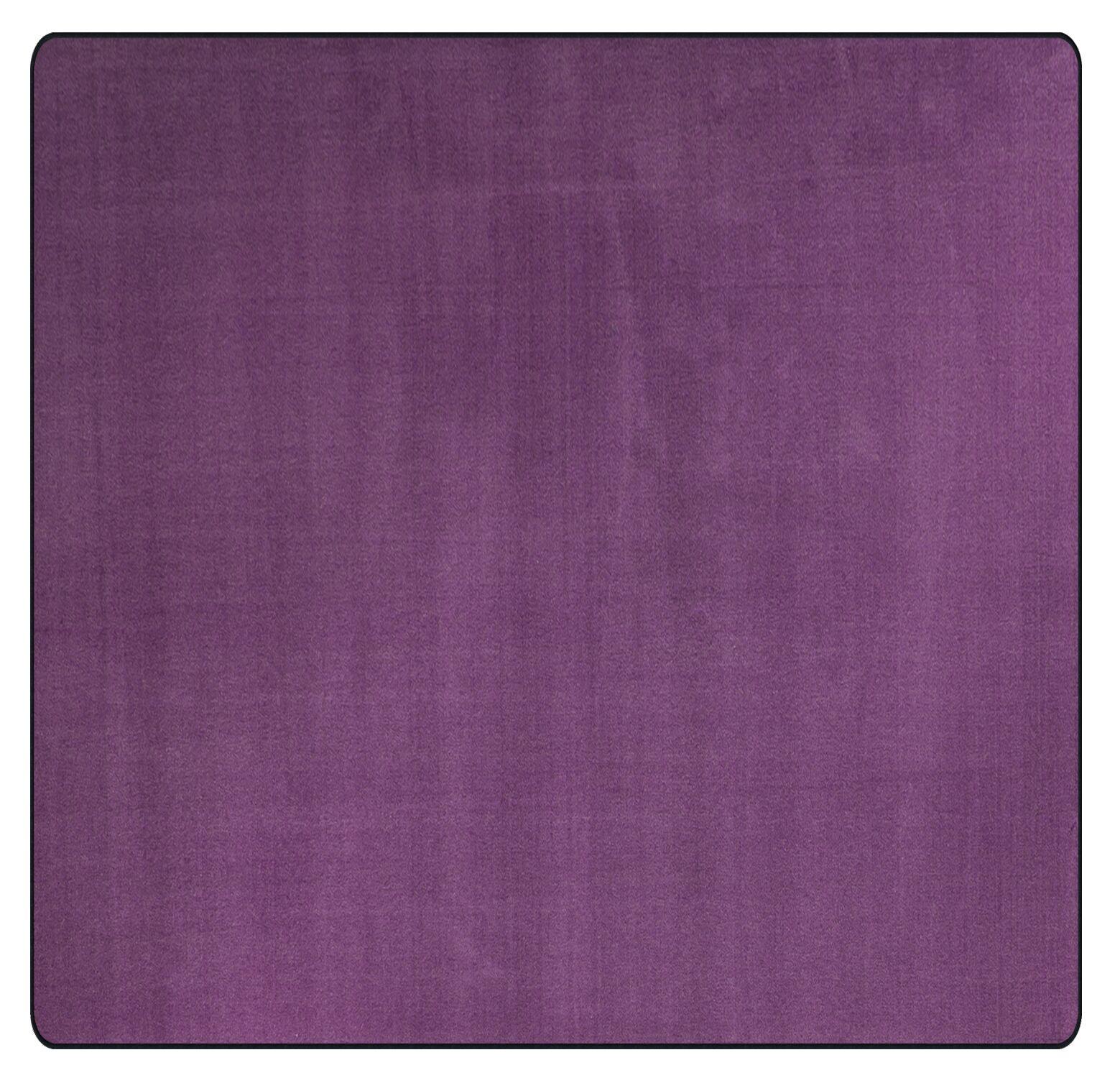 Americolors Pretty Purple Area Rug Rug Size: Square 6'